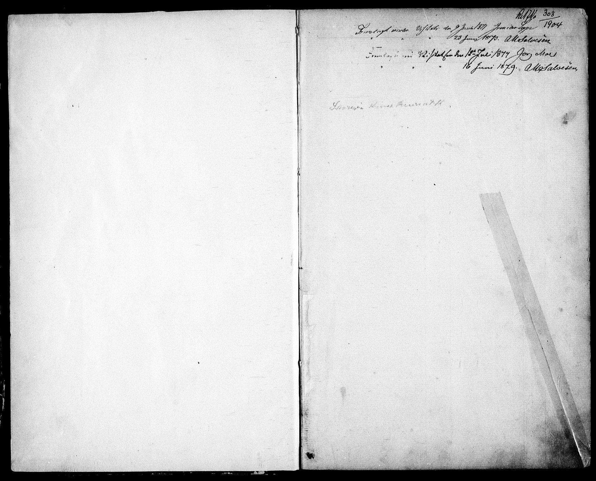 SAK, Fjære sokneprestkontor, F/Fb/L0010: Klokkerbok nr. B 10, 1871-1880