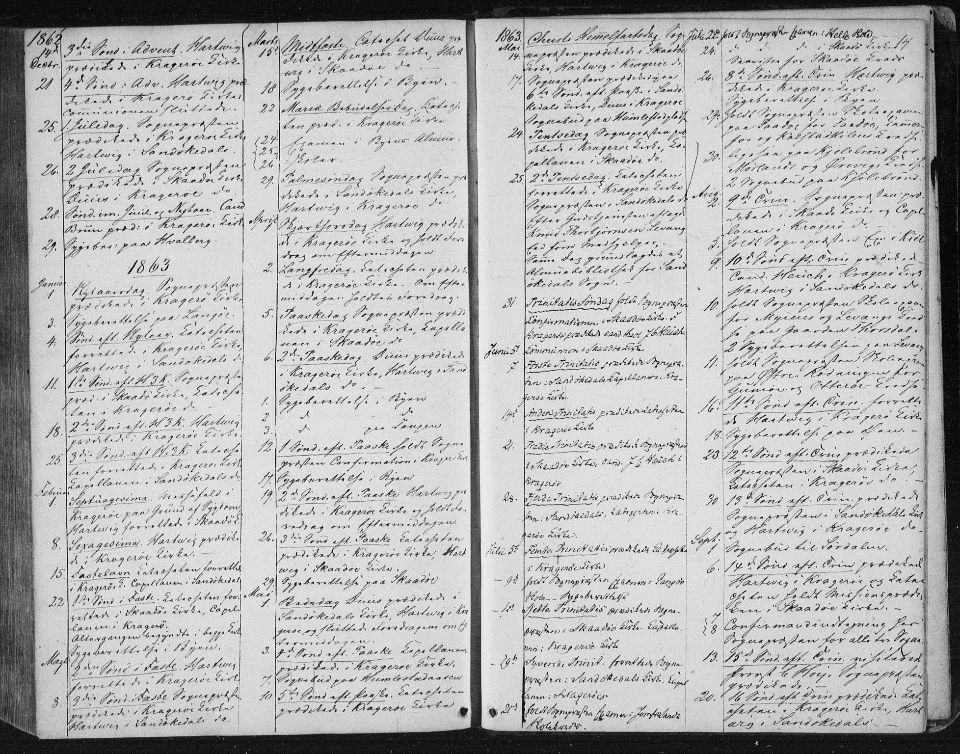SAKO, Kragerø kirkebøker, F/Fa/L0006: Ministerialbok nr. 6, 1847-1861, s. 14