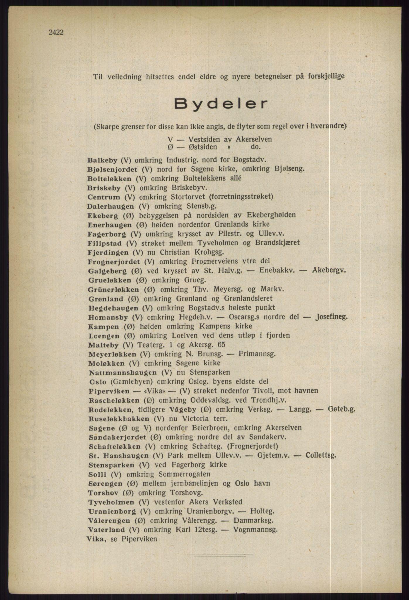 RA, Oslo adressebok (publikasjon)*, 1936, s. 2422