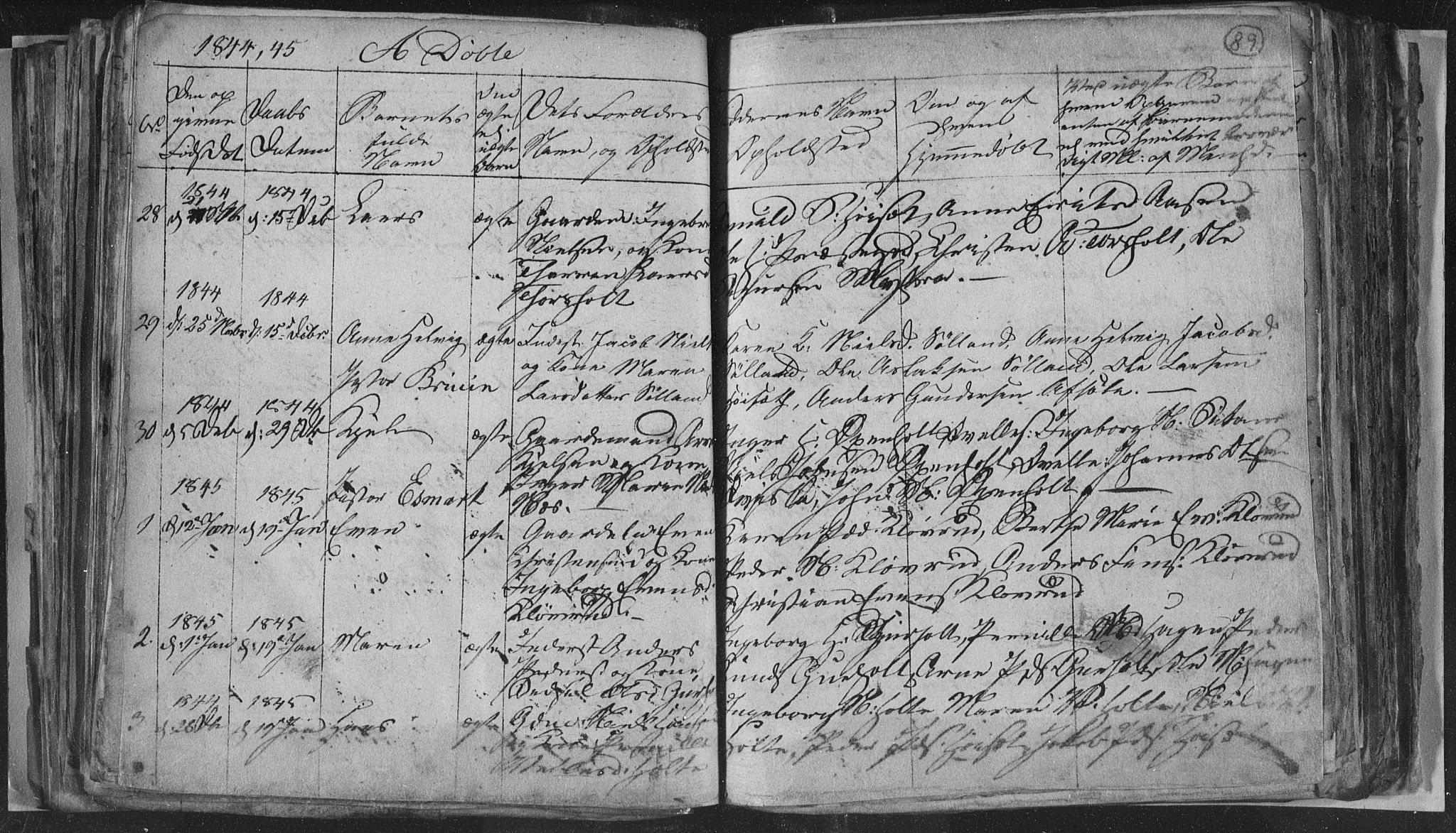 SAKO, Siljan kirkebøker, G/Ga/L0001: Klokkerbok nr. 1, 1827-1847, s. 89