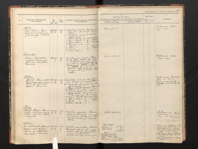 SAB, Lensmannen i Innvik, 0006/L0005: Dødsfallprotokoll, 1921-1932, s. 41b-42a