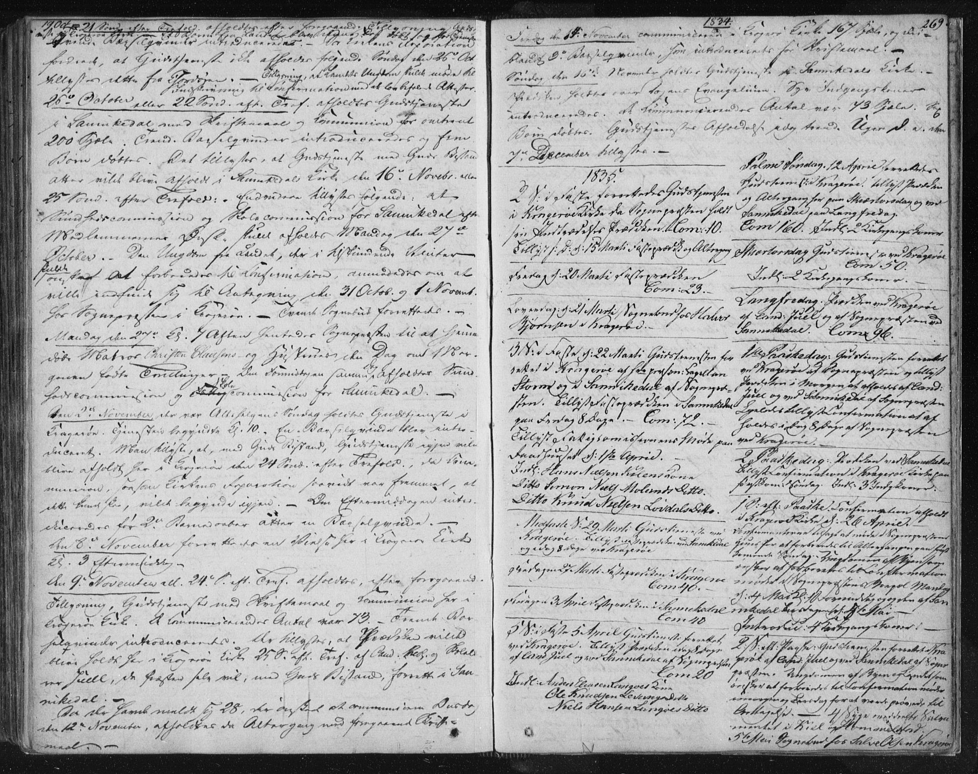 SAKO, Kragerø kirkebøker, F/Fa/L0005: Ministerialbok nr. 5, 1832-1847, s. 269