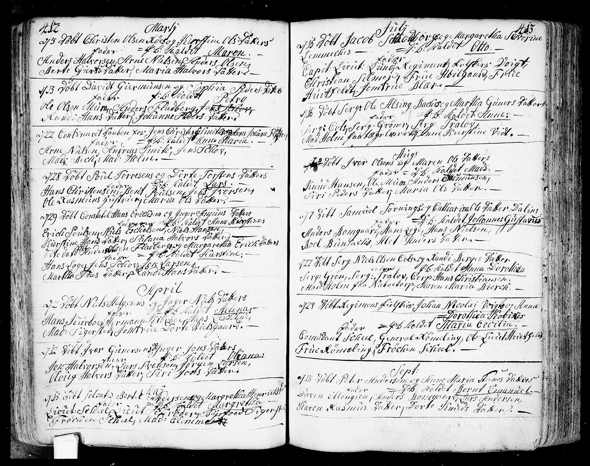 SAO, Fredrikstad prestekontor Kirkebøker, F/Fa/L0002: Ministerialbok nr. 2, 1750-1804, s. 412-413