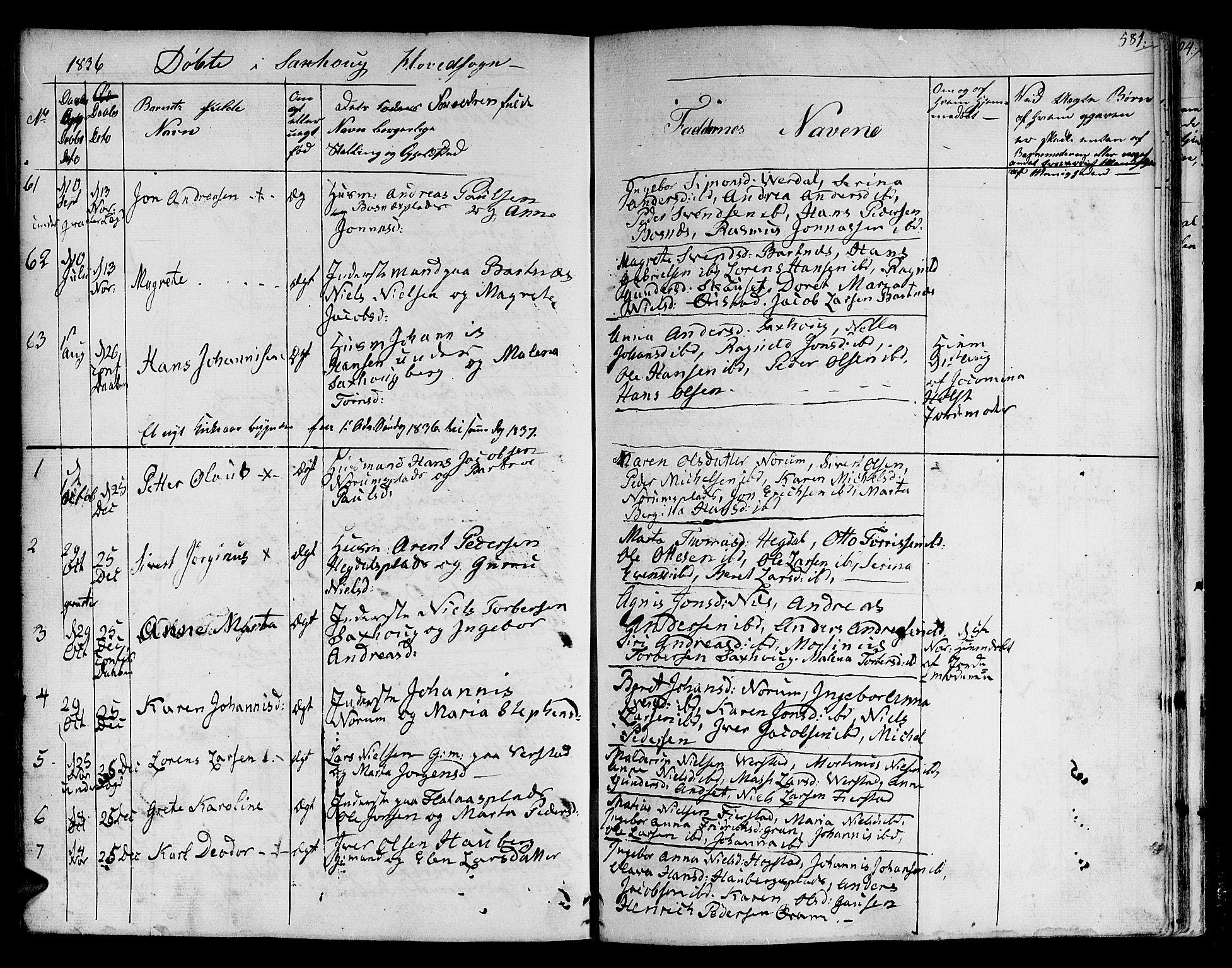 SAT, Ministerialprotokoller, klokkerbøker og fødselsregistre - Nord-Trøndelag, 730/L0277: Ministerialbok nr. 730A06 /1, 1830-1839, s. 581