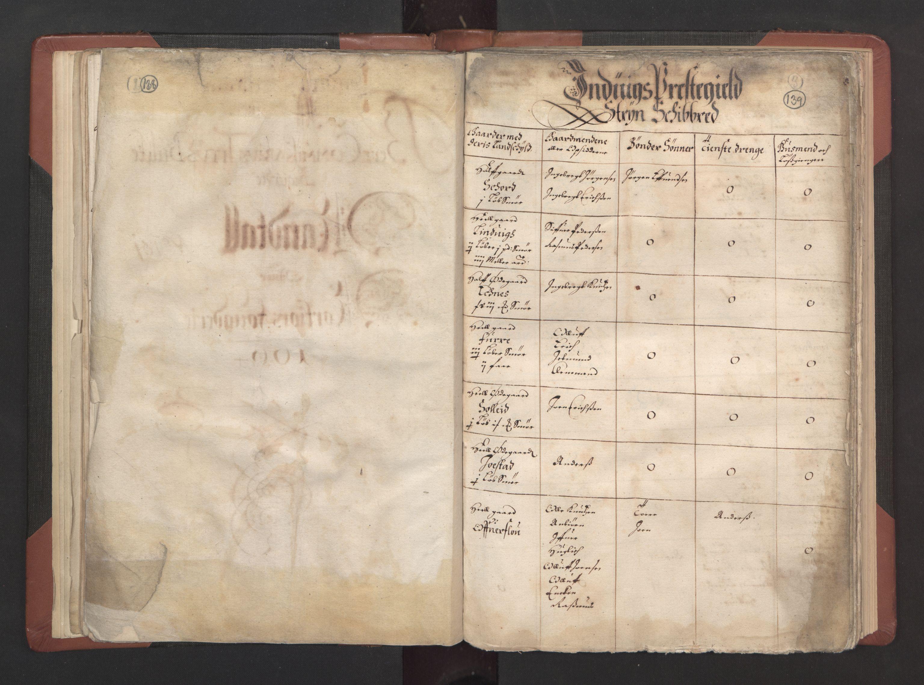 RA, Fogdenes og sorenskrivernes manntall 1664-1666, nr. 15: Nordfjord fogderi og Sunnfjord fogderi, 1664, s. 138-139
