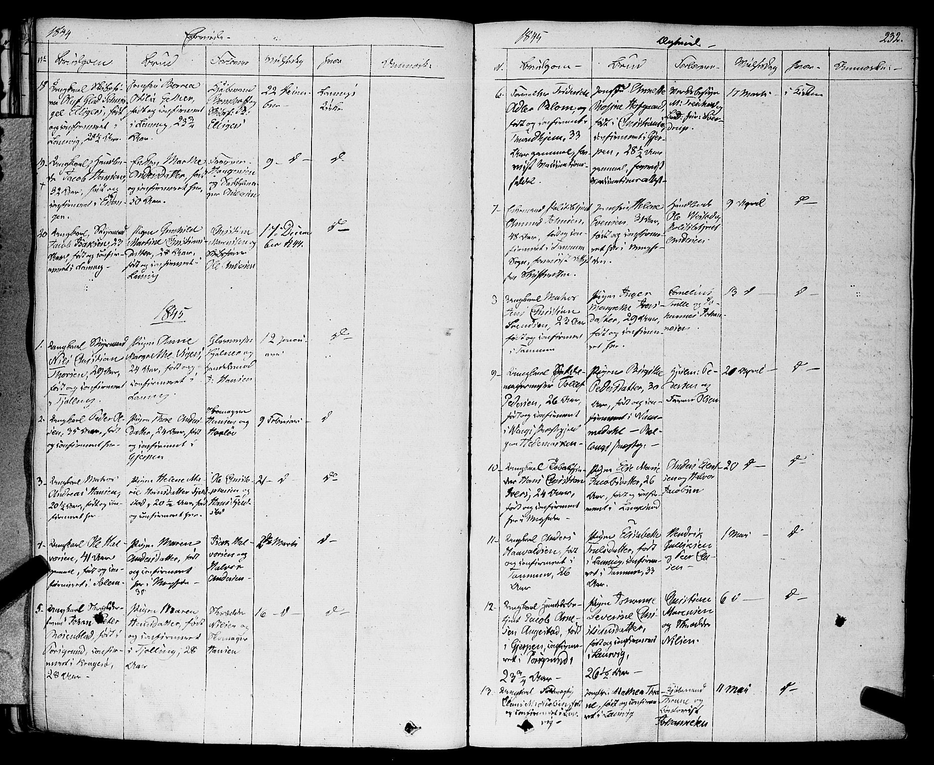 SAKO, Larvik kirkebøker, F/Fa/L0002: Ministerialbok nr. I 2, 1825-1847, s. 232