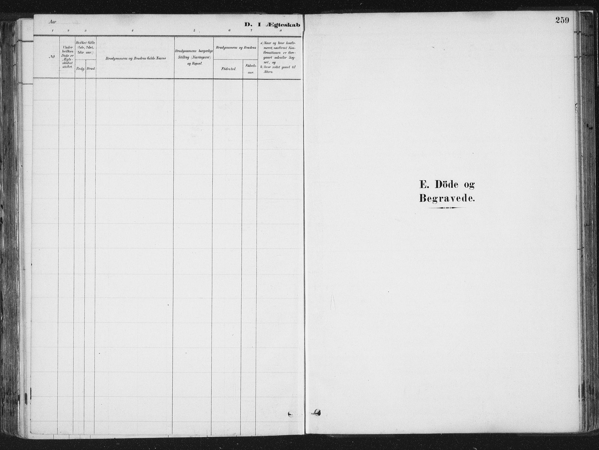SAT, Ministerialprotokoller, klokkerbøker og fødselsregistre - Sør-Trøndelag, 659/L0739: Ministerialbok nr. 659A09, 1879-1893, s. 259