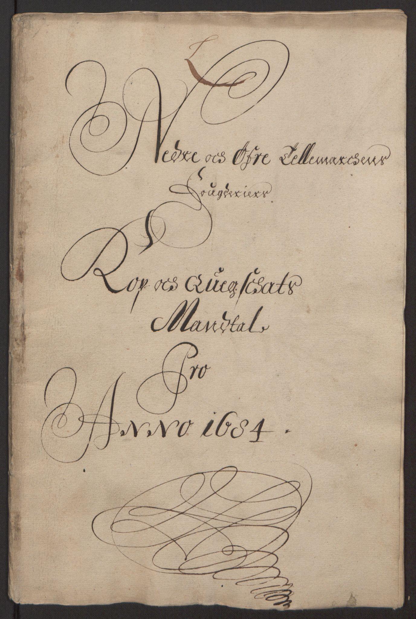 RA, Rentekammeret inntil 1814, Reviderte regnskaper, Fogderegnskap, R35/L2081: Fogderegnskap Øvre og Nedre Telemark, 1680-1684, s. 182