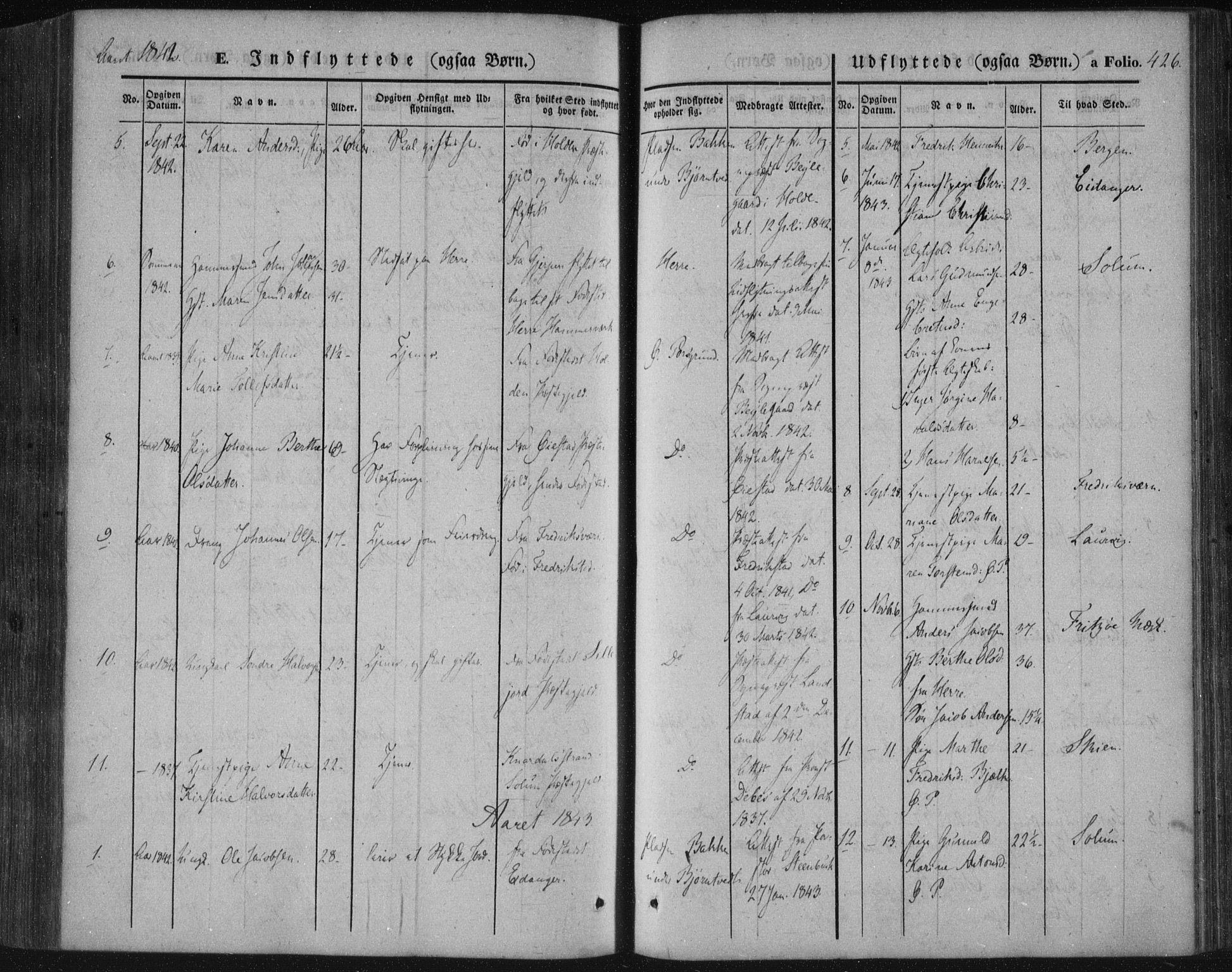SAKO, Porsgrunn kirkebøker , F/Fa/L0006: Ministerialbok nr. 6, 1841-1857, s. 426