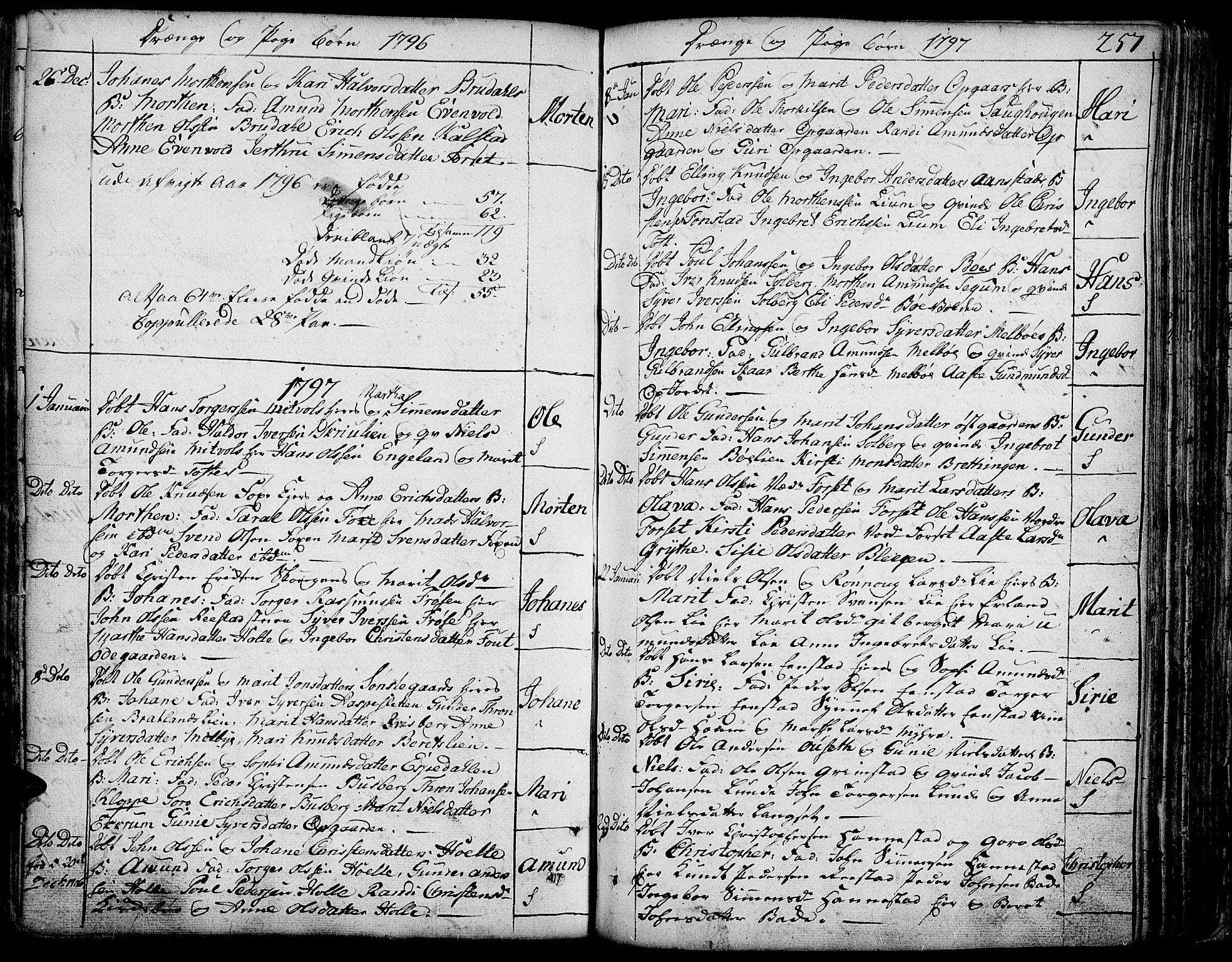 SAH, Gausdal prestekontor, Ministerialbok nr. 3, 1758-1809, s. 257
