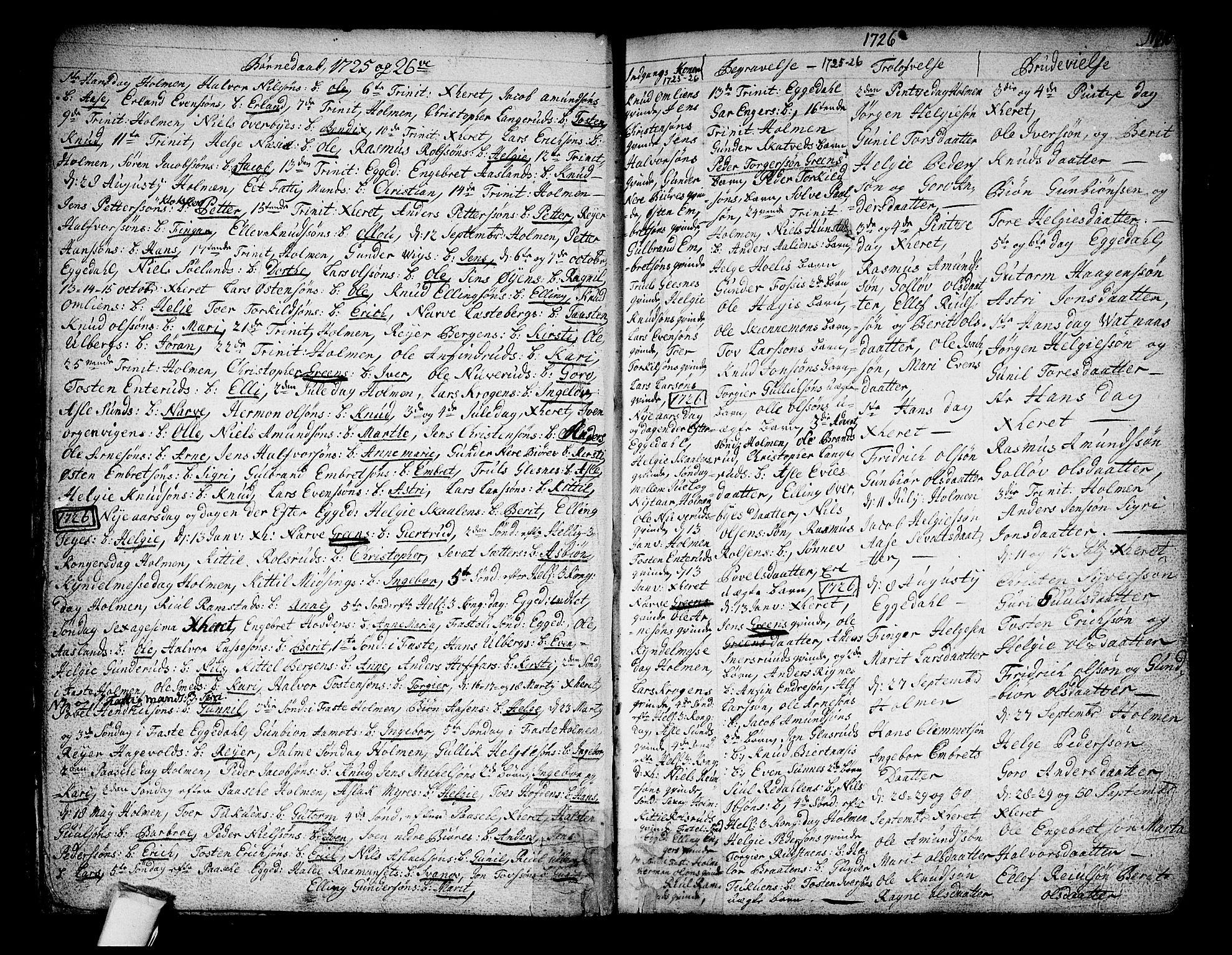 SAKO, Sigdal kirkebøker, F/Fa/L0001: Ministerialbok nr. I 1, 1722-1777, s. 10