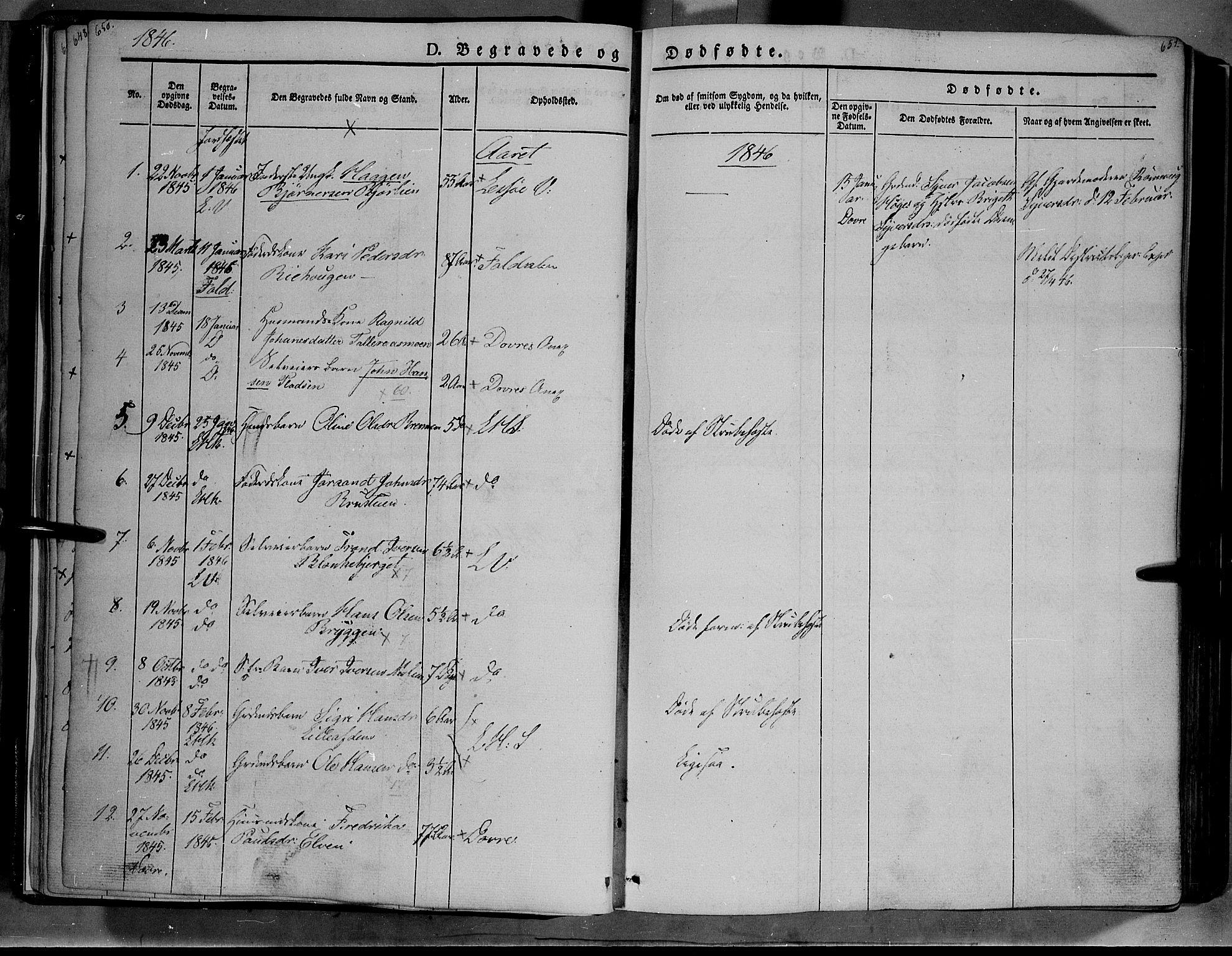 SAH, Lesja prestekontor, Ministerialbok nr. 6B, 1843-1854, s. 650-651
