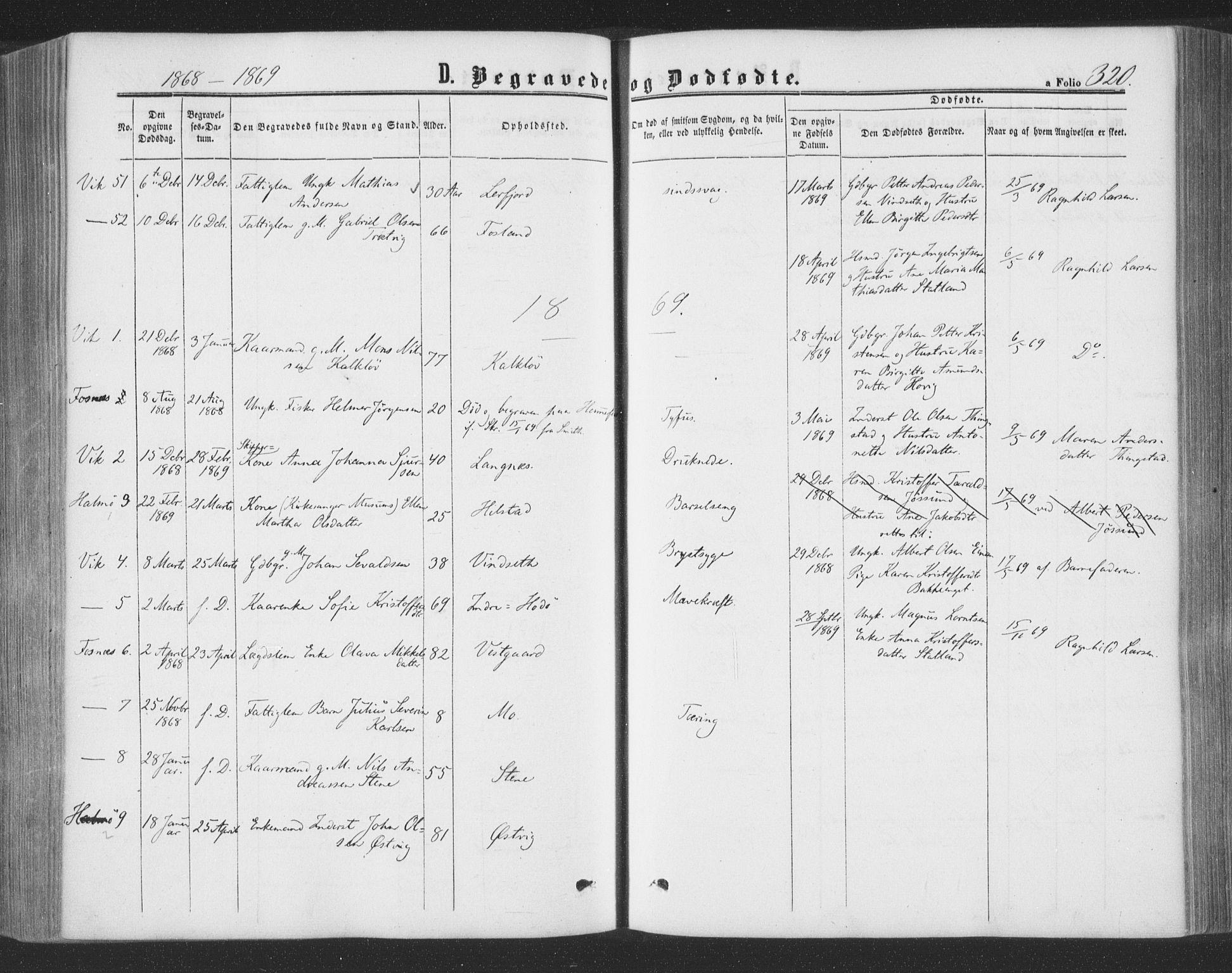 SAT, Ministerialprotokoller, klokkerbøker og fødselsregistre - Nord-Trøndelag, 773/L0615: Ministerialbok nr. 773A06, 1857-1870, s. 320