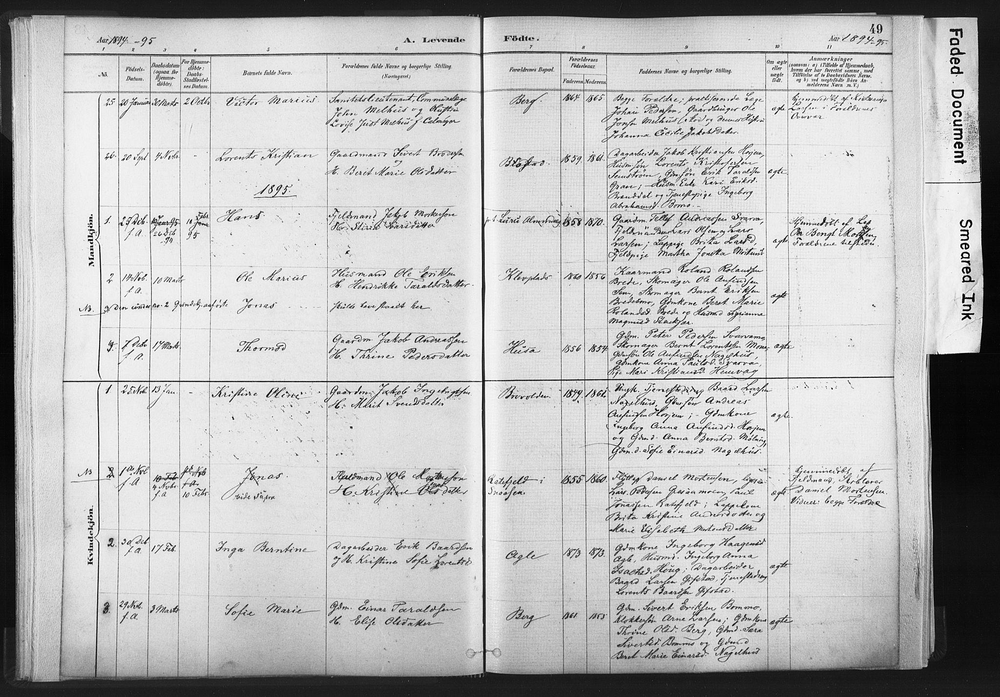 SAT, Ministerialprotokoller, klokkerbøker og fødselsregistre - Nord-Trøndelag, 749/L0474: Ministerialbok nr. 749A08, 1887-1903, s. 49