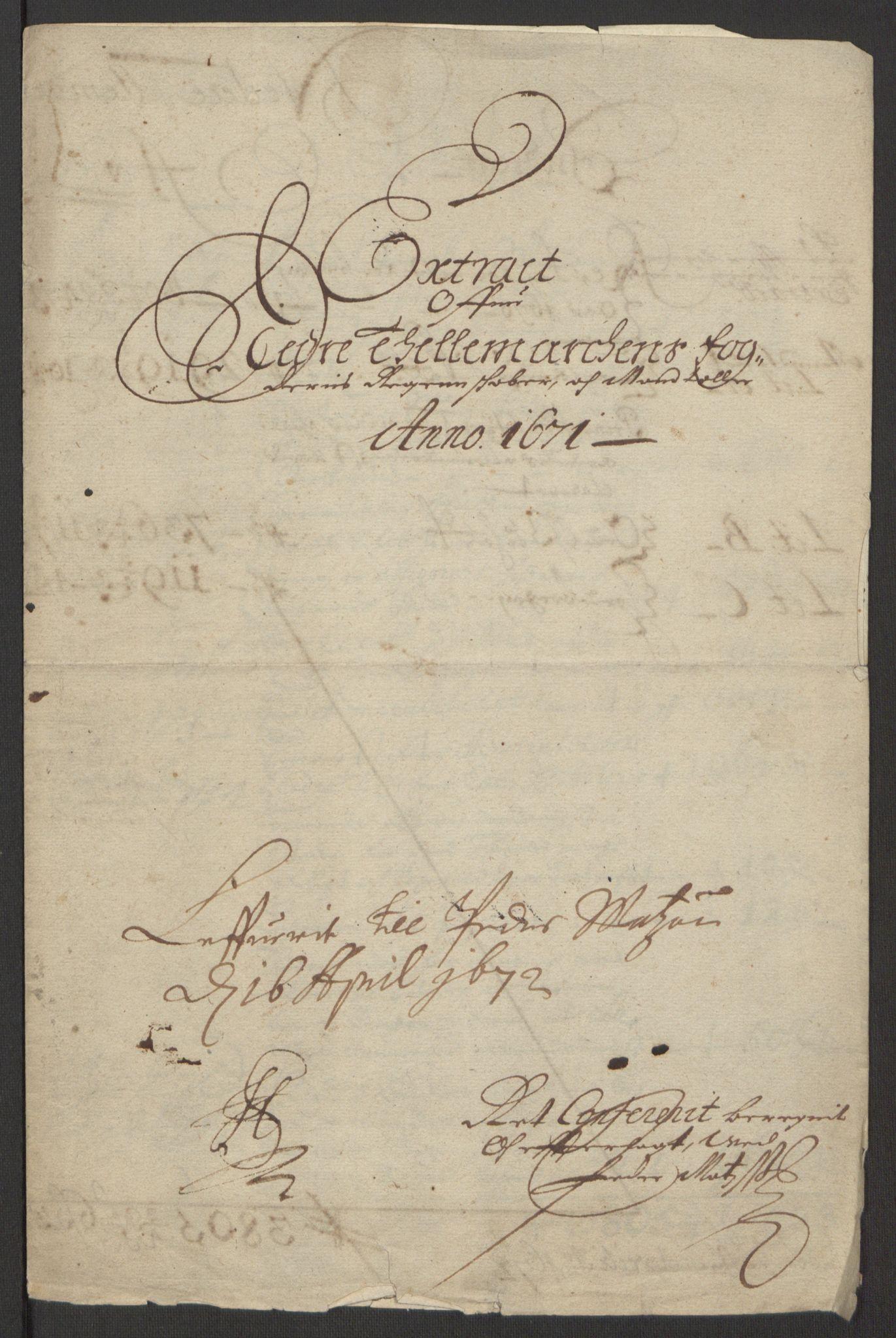 RA, Rentekammeret inntil 1814, Reviderte regnskaper, Fogderegnskap, R35/L2060: Fogderegnskap Øvre og Nedre Telemark, 1671-1672, s. 131