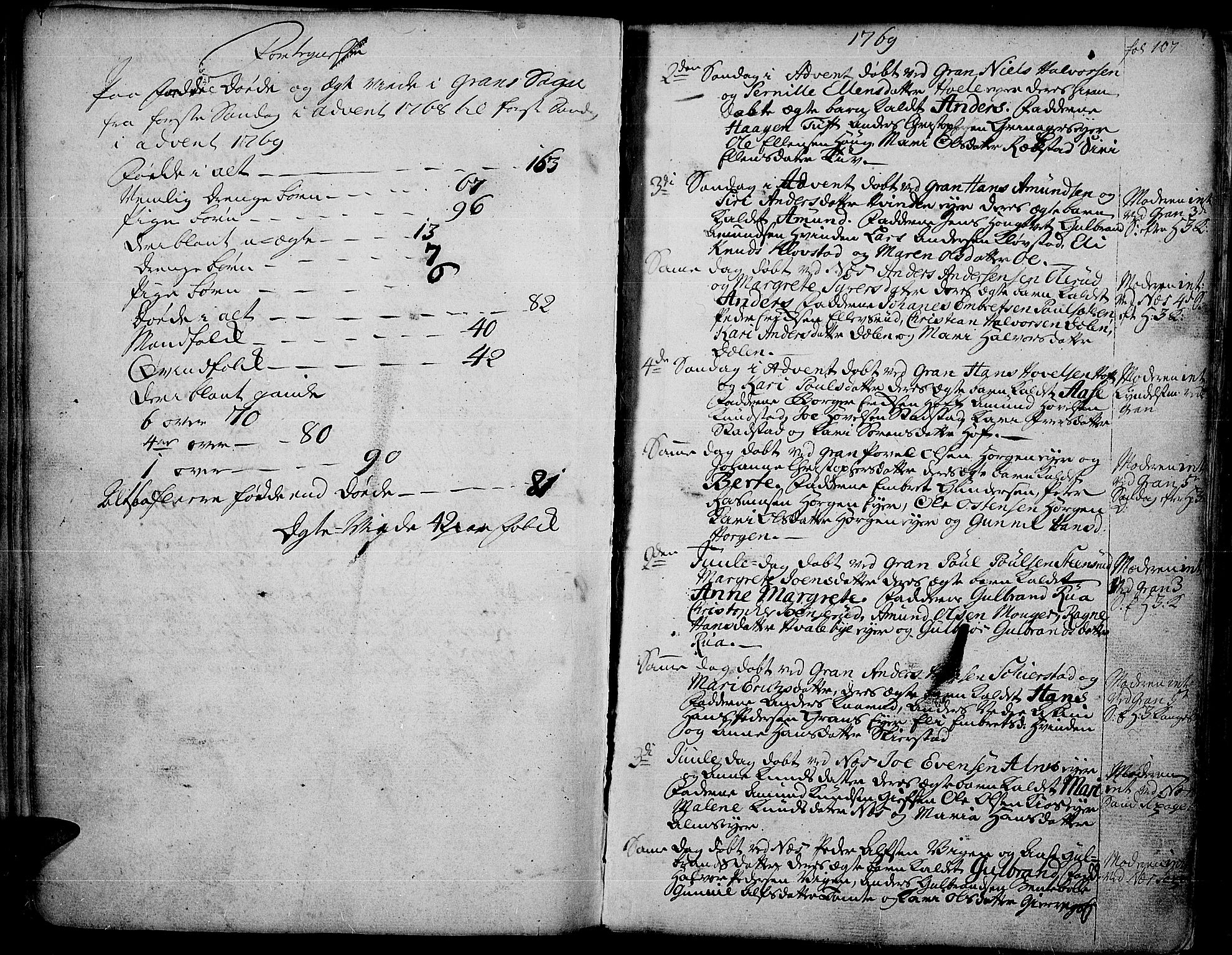 SAH, Gran prestekontor, Ministerialbok nr. 4, 1759-1775, s. 107