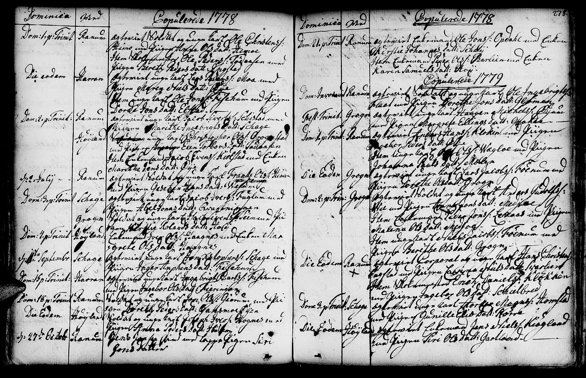 SAT, Ministerialprotokoller, klokkerbøker og fødselsregistre - Nord-Trøndelag, 764/L0542: Ministerialbok nr. 764A02, 1748-1779, s. 278