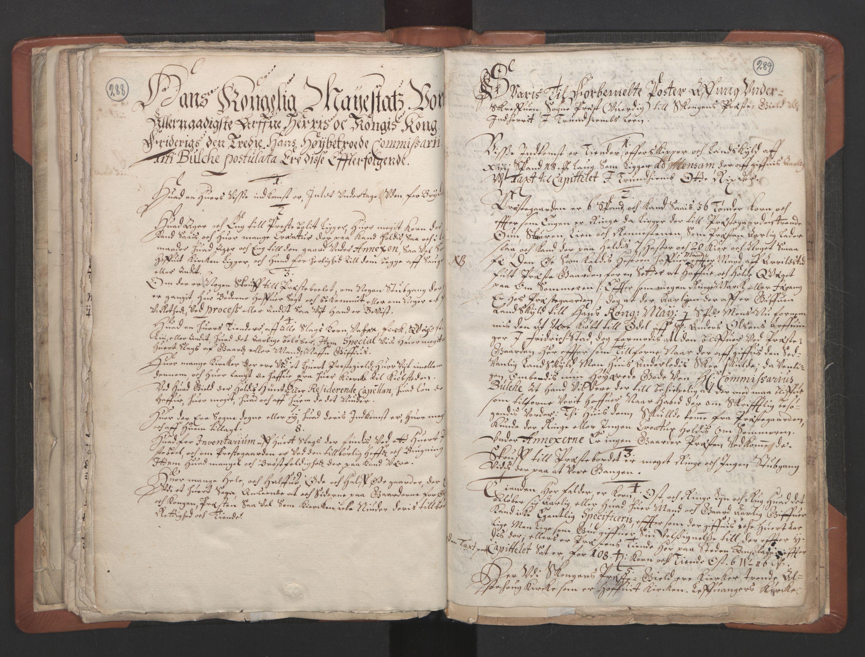 RA, Sogneprestenes manntall 1664-1666, nr. 32: Innherad prosti, 1664-1666, s. 288-289