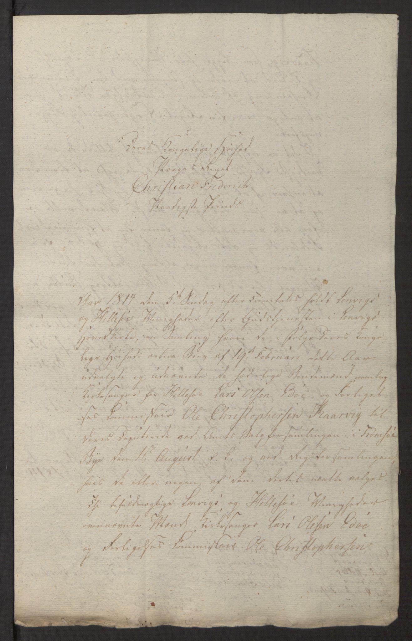 SATØ, Amtmannen/Fylkesmannen i Finnmark*, 1814, s. 27