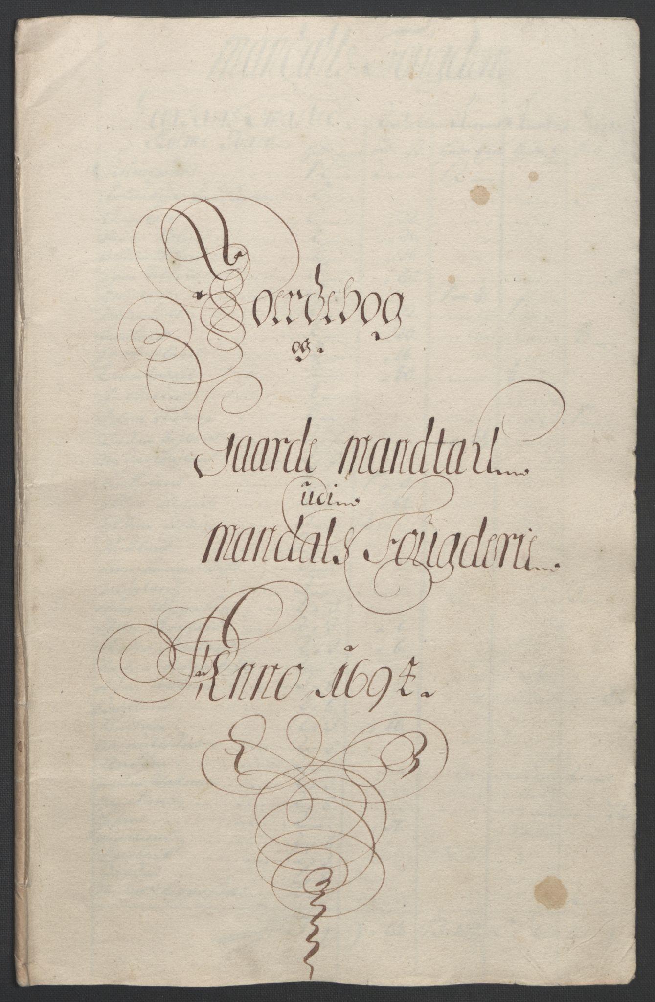 RA, Rentekammeret inntil 1814, Reviderte regnskaper, Fogderegnskap, R43/L2545: Fogderegnskap Lista og Mandal, 1694-1695, s. 79