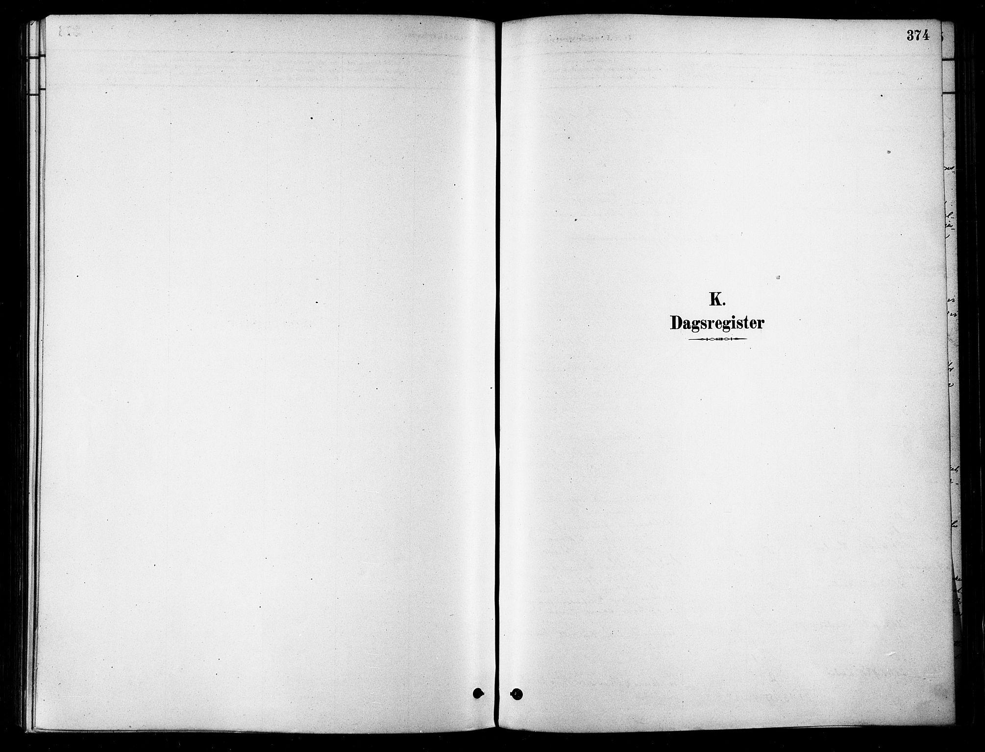 SATØ, Karlsøy sokneprestembete, H/Ha/Haa/L0006kirke: Ministerialbok nr. 6, 1879-1890, s. 374