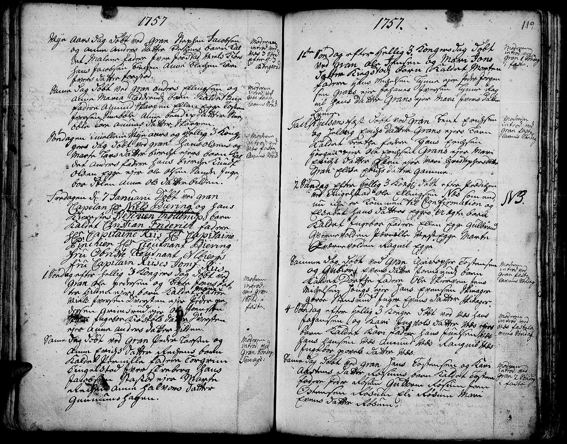 SAH, Gran prestekontor, Ministerialbok nr. 3, 1745-1758, s. 119