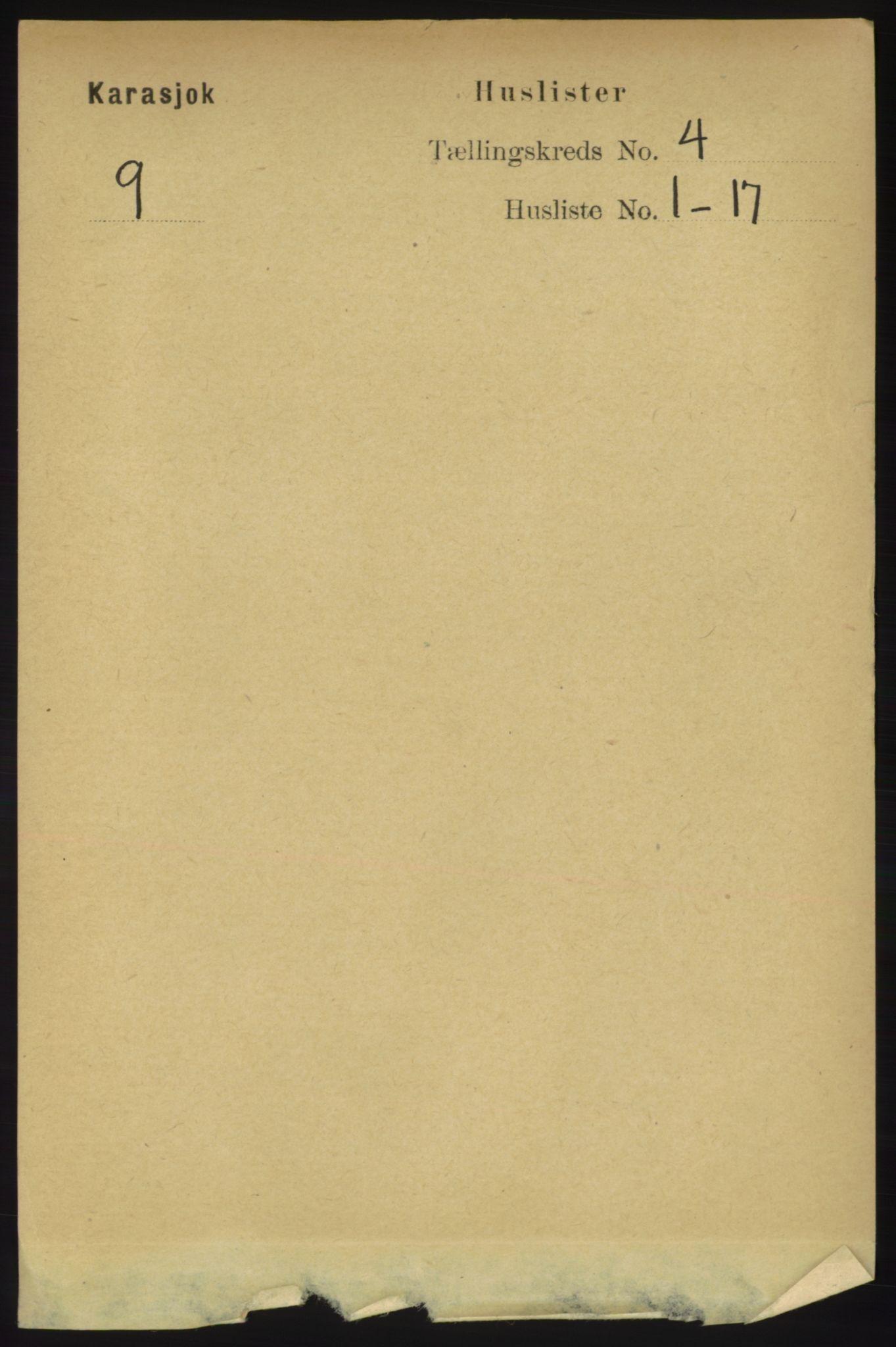 RA, Folketelling 1891 for 2021 Karasjok herred, 1891, s. 674