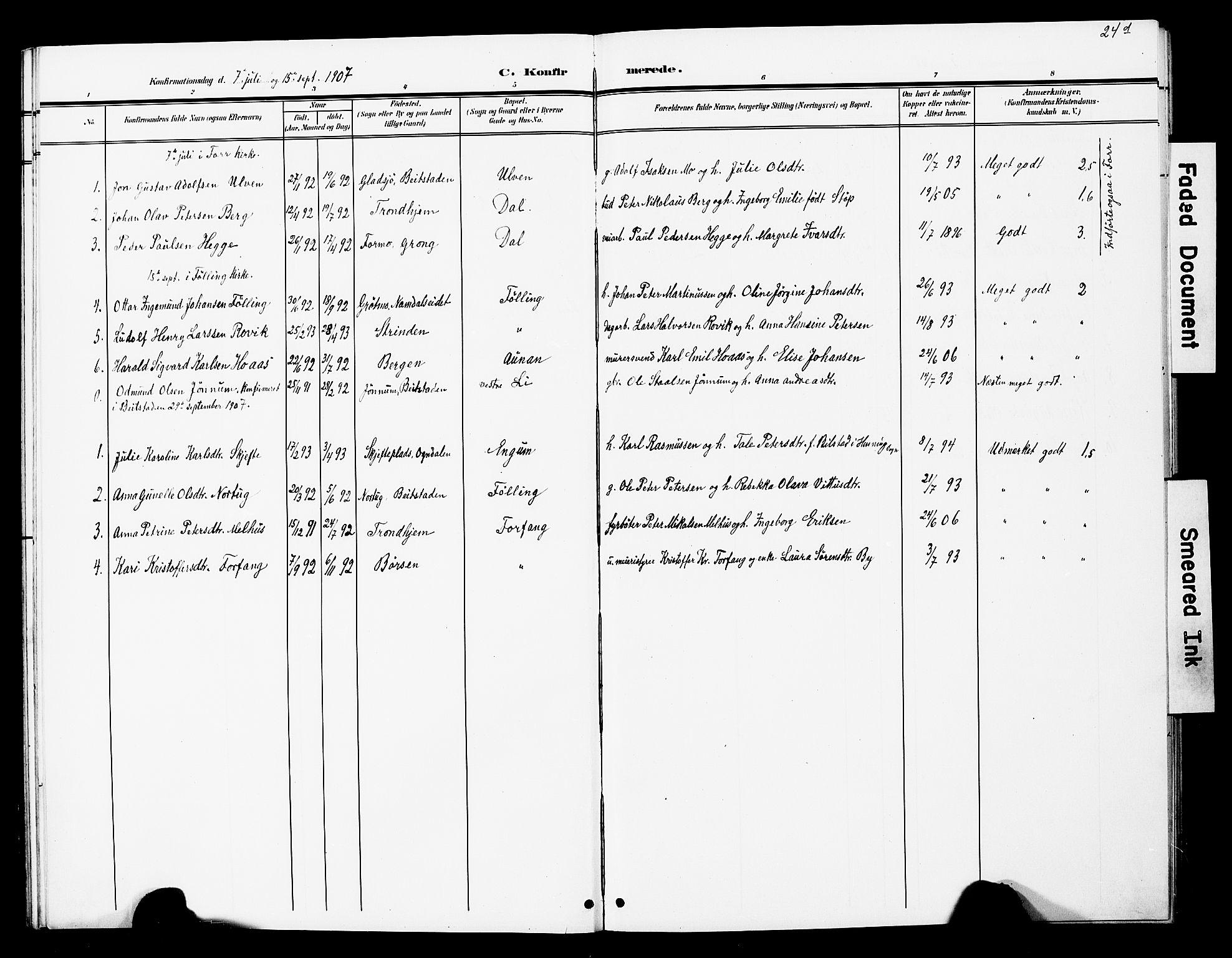 SAT, Ministerialprotokoller, klokkerbøker og fødselsregistre - Nord-Trøndelag, 748/L0464: Ministerialbok nr. 748A01, 1900-1908, s. 24d