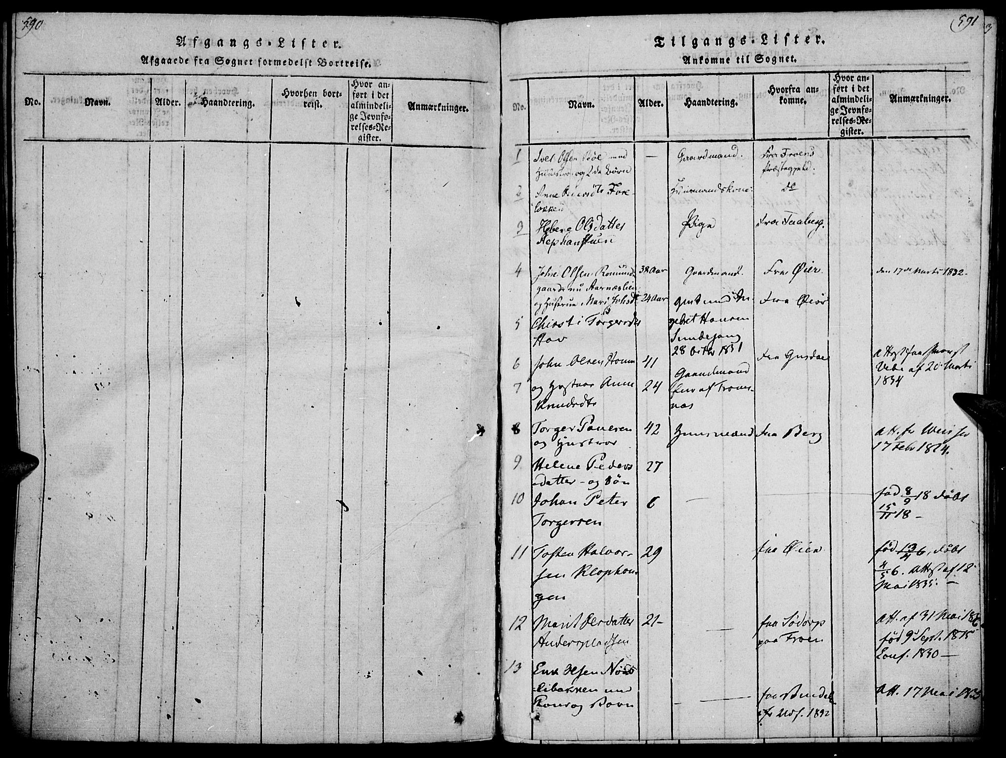 SAH, Ringebu prestekontor, Ministerialbok nr. 4, 1821-1839, s. 590-591