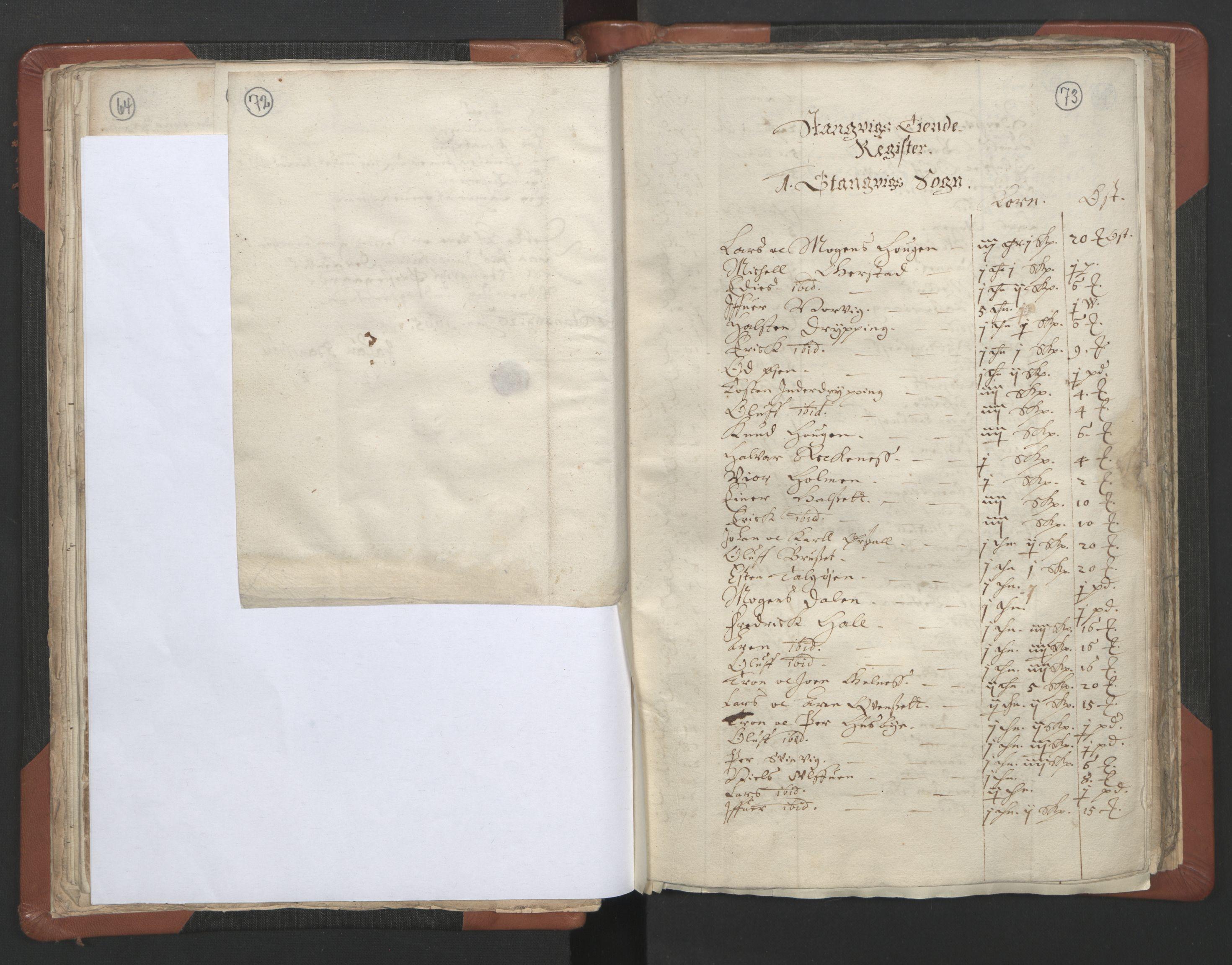 RA, Sogneprestenes manntall 1664-1666, nr. 29: Nordmøre prosti, 1664-1666, s. 72-73