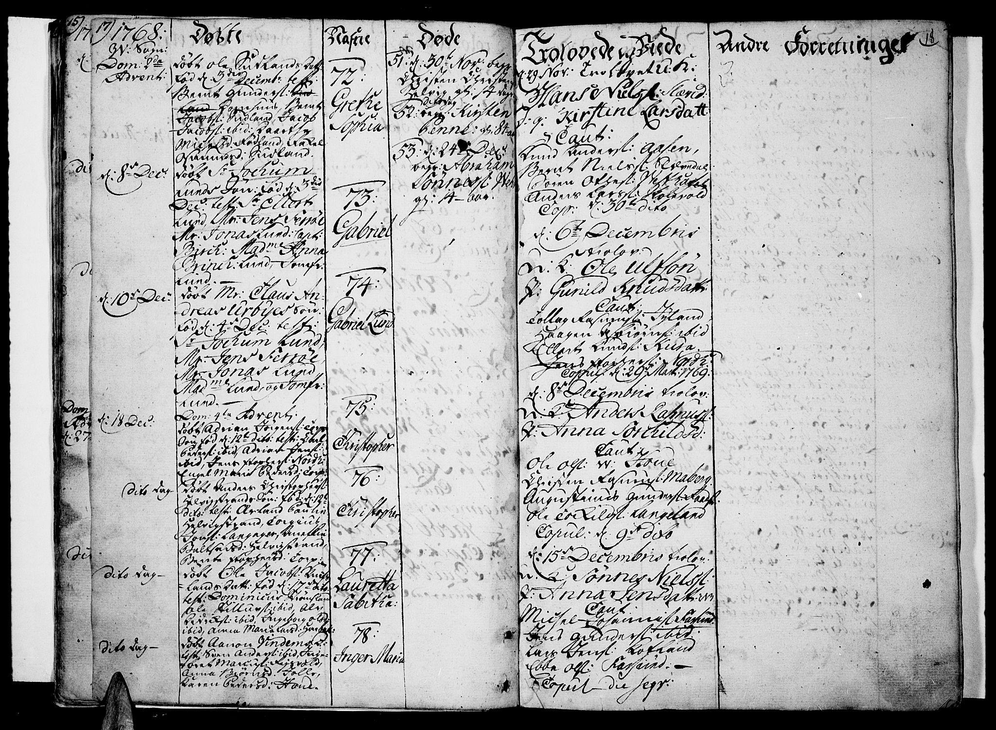 SAK, Lista sokneprestkontor, F/Fa/L0004: Ministerialbok nr. A 4, 1768-1794, s. 17-18