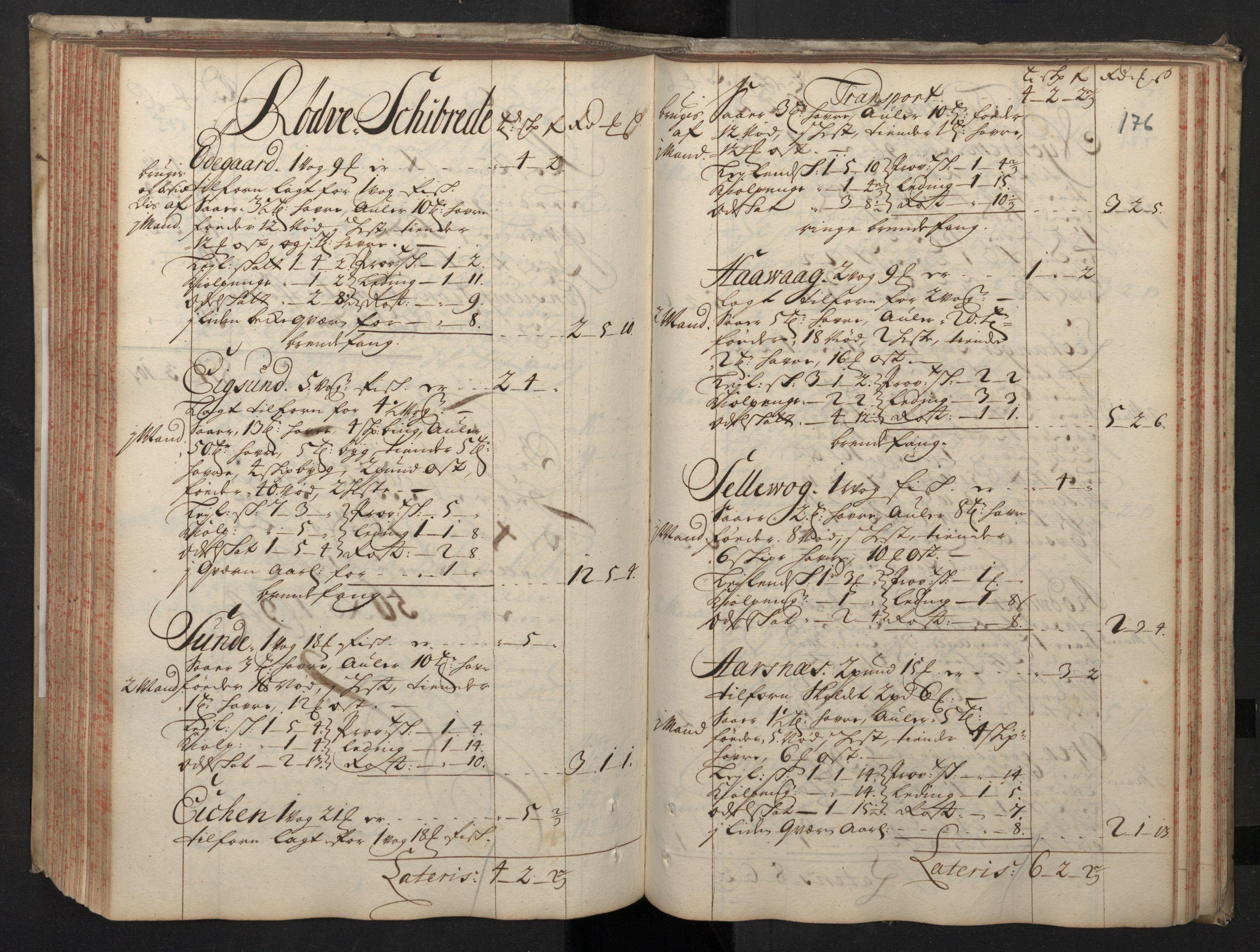 RA, Rentekammeret inntil 1814, Realistisk ordnet avdeling, N/Nb/Nbf/L0148: Sunnmøre, prøvematrikkel, 1714, s. 175b-176a