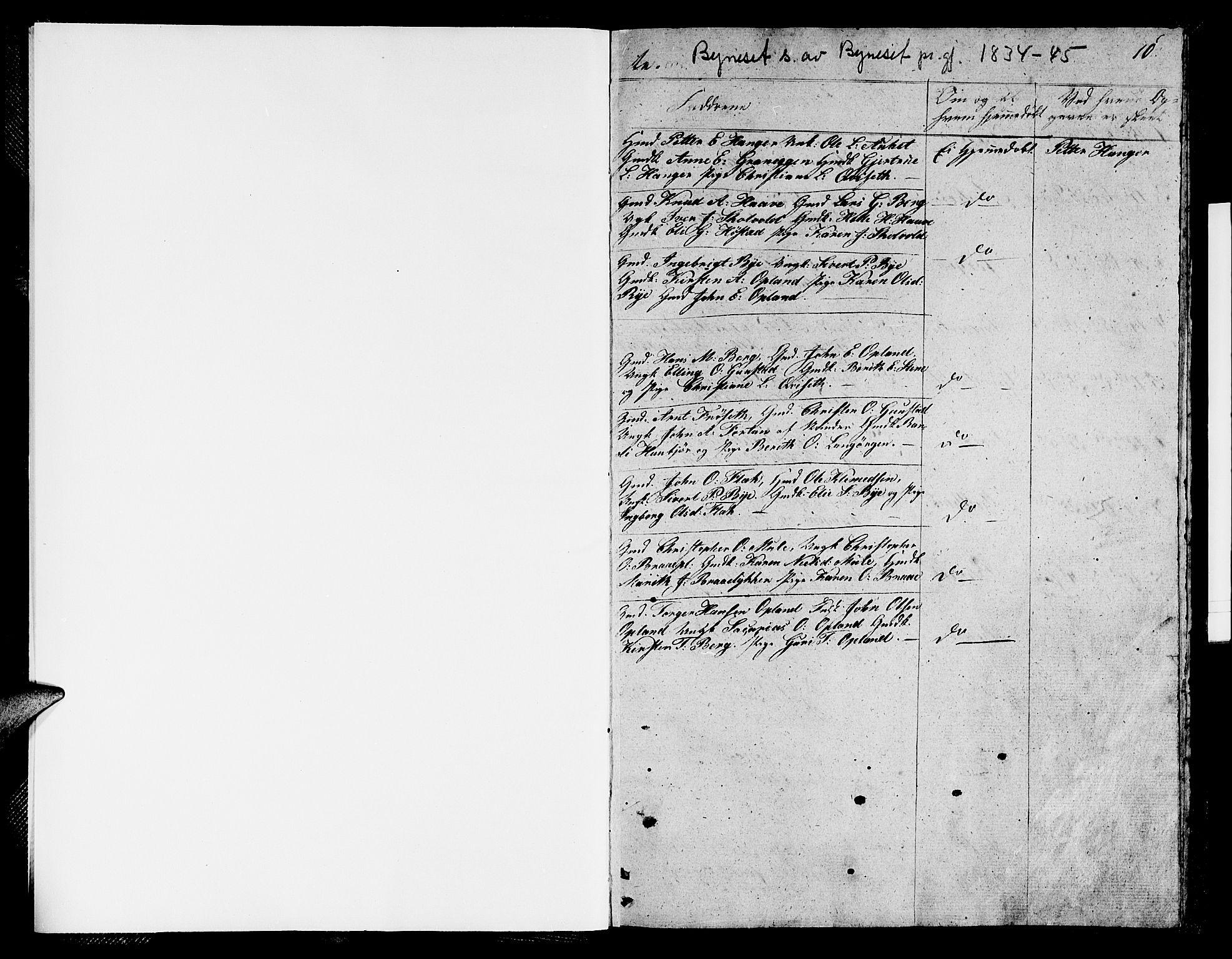 SAT, Ministerialprotokoller, klokkerbøker og fødselsregistre - Sør-Trøndelag, 612/L0386: Klokkerbok nr. 612C02, 1834-1845, s. 10