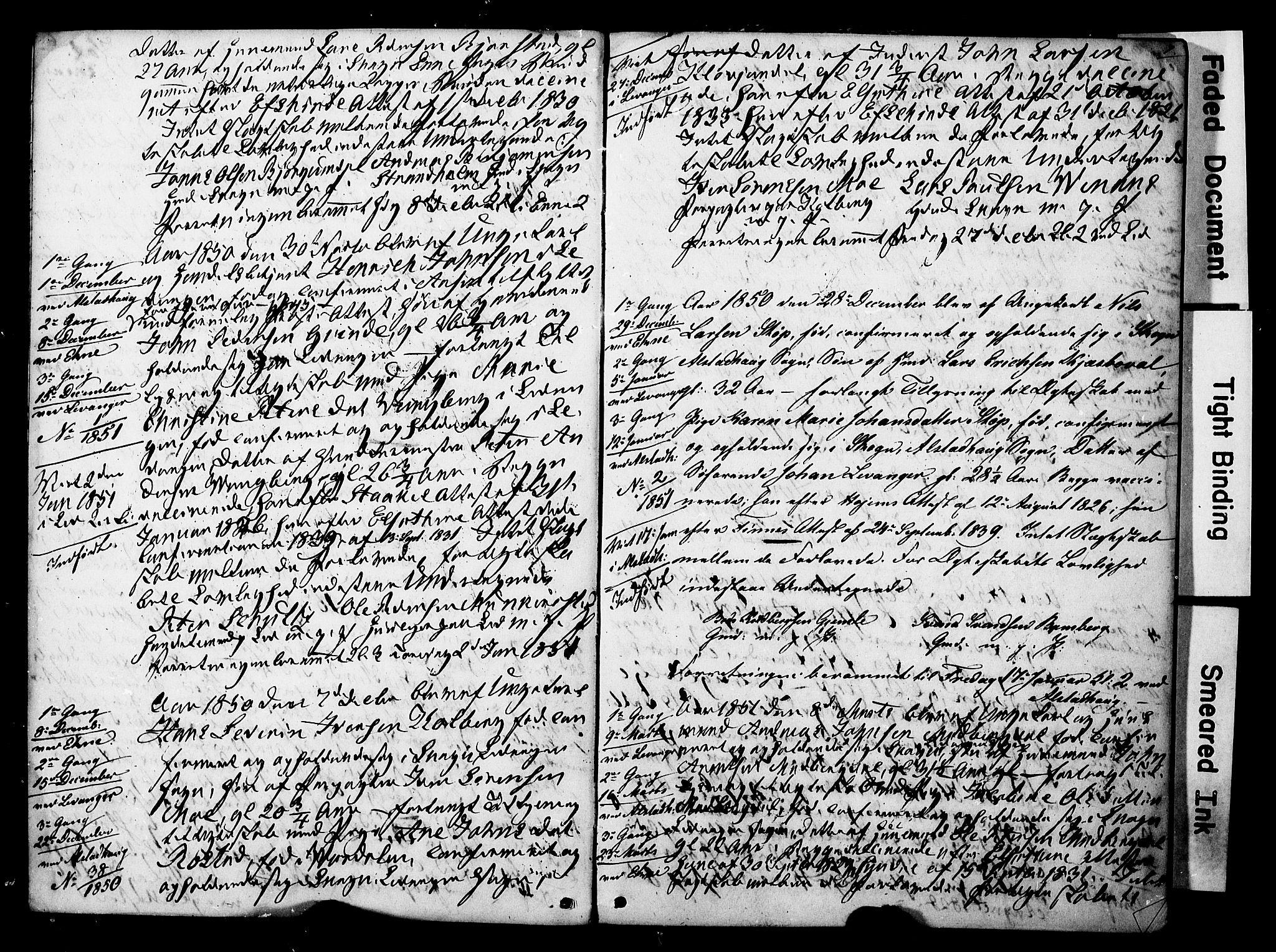 SAT, Ministerialprotokoller, klokkerbøker og fødselsregistre - Nord-Trøndelag, 717/L0161: Forlovererklæringer nr. 717A11, 1850-1895, s. 7