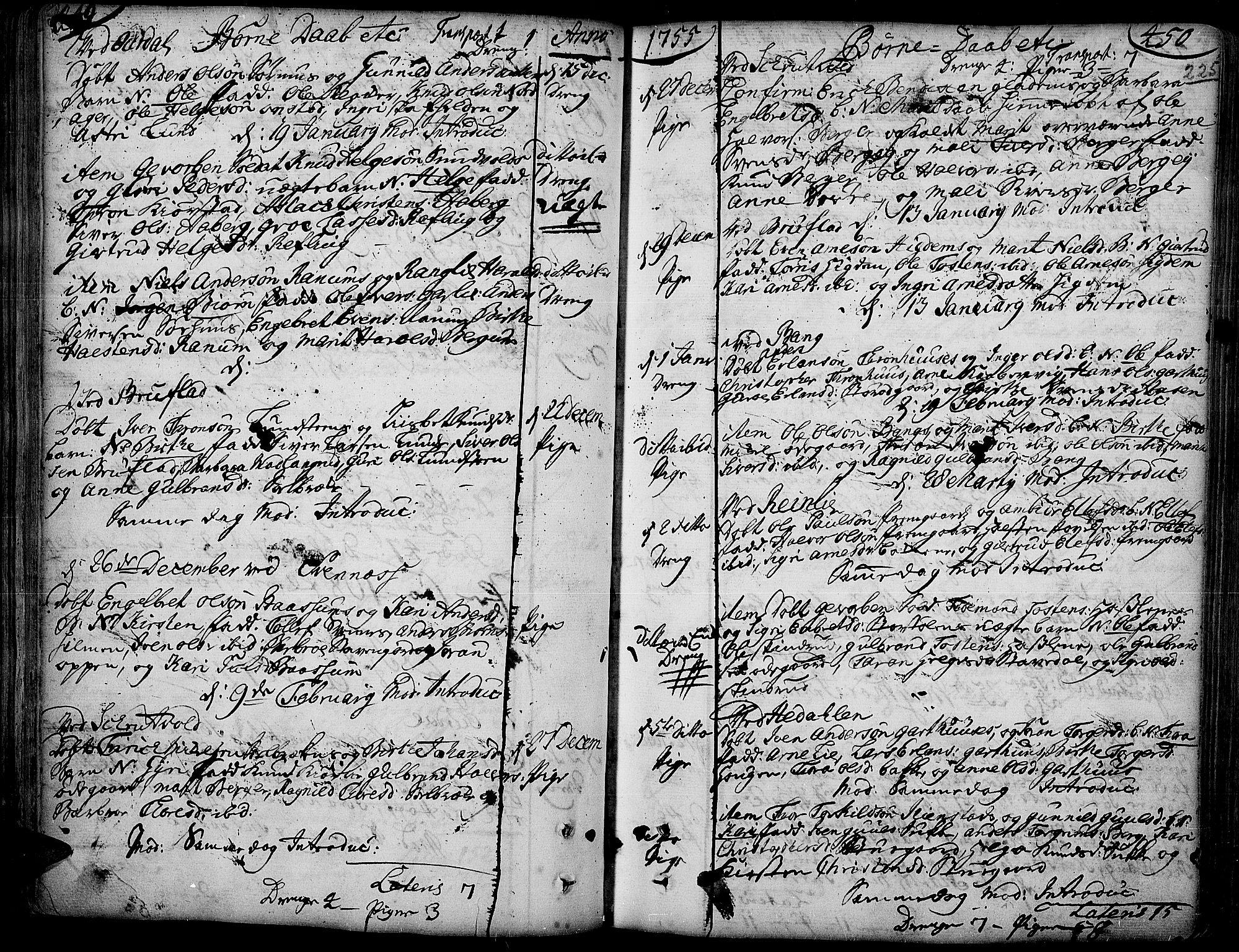 SAH, Aurdal prestekontor, Ministerialbok nr. 4, 1730-1762, s. 449-450