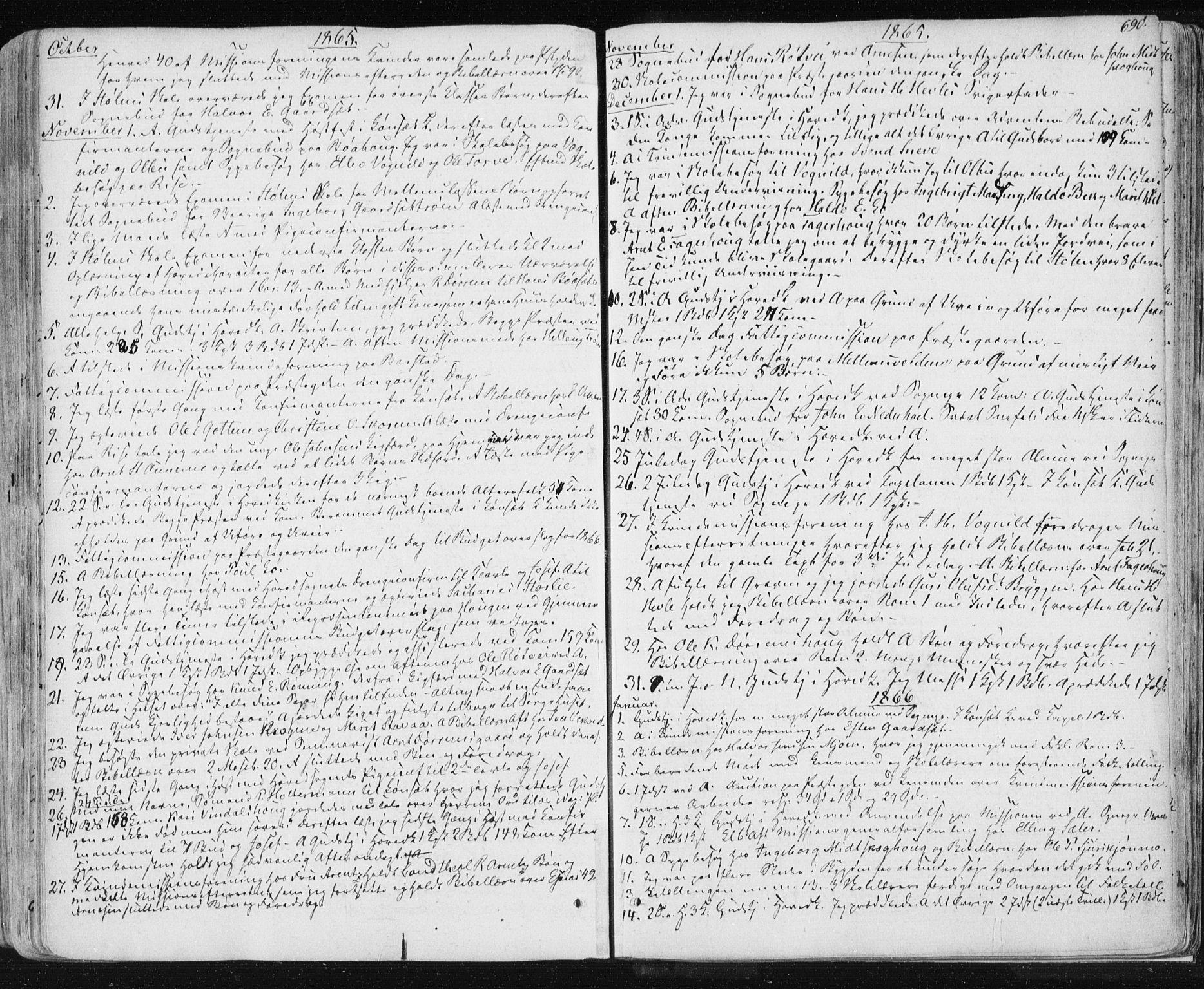 SAT, Ministerialprotokoller, klokkerbøker og fødselsregistre - Sør-Trøndelag, 678/L0899: Ministerialbok nr. 678A08, 1848-1872, s. 690