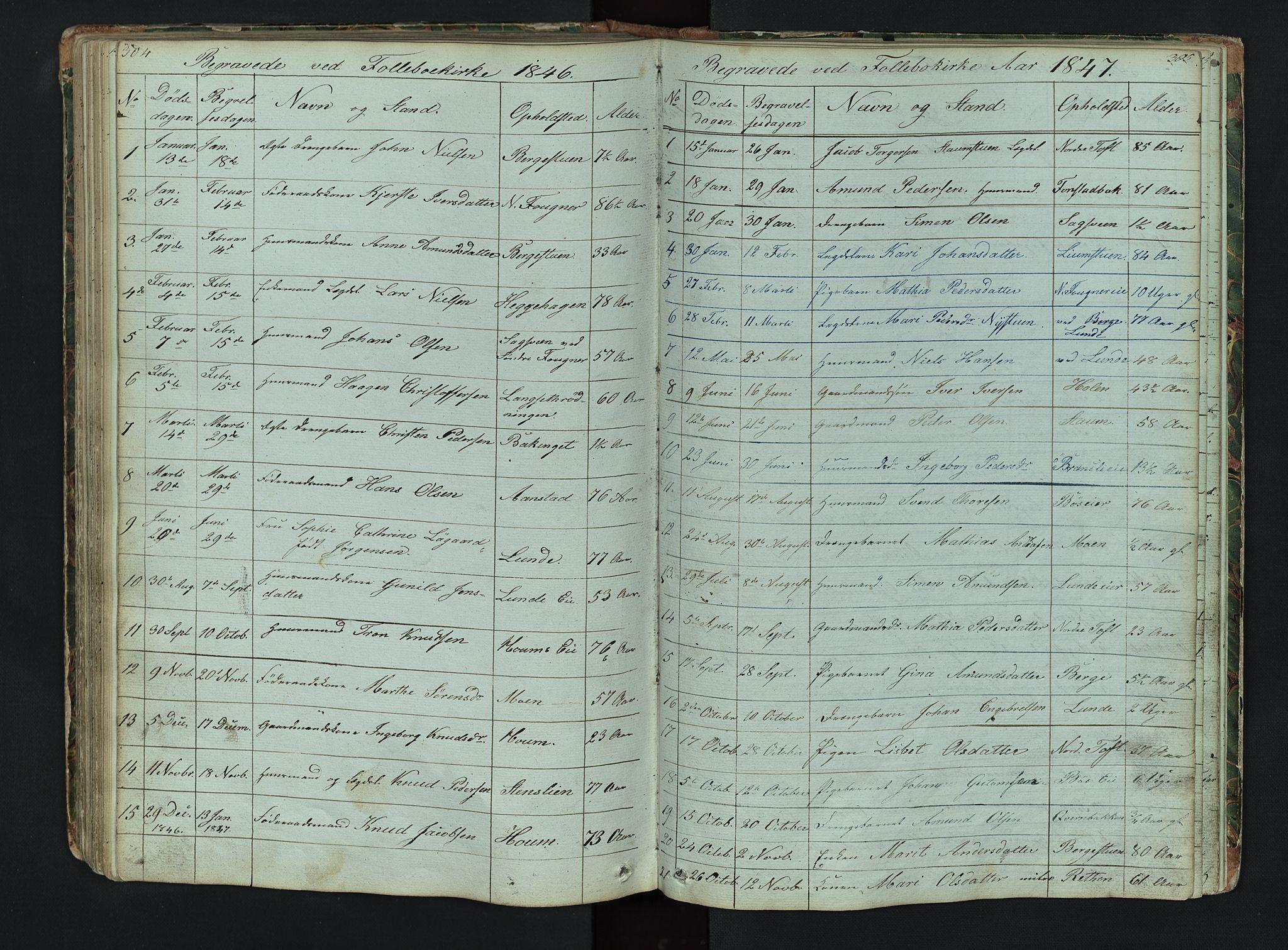 SAH, Gausdal prestekontor, Klokkerbok nr. 6, 1846-1893, s. 304-305