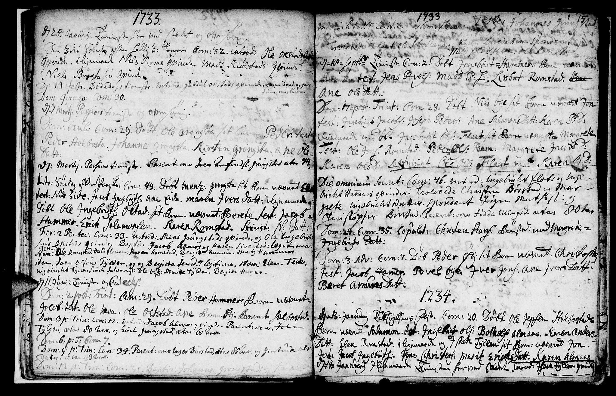 SAT, Ministerialprotokoller, klokkerbøker og fødselsregistre - Nord-Trøndelag, 765/L0560: Ministerialbok nr. 765A01, 1706-1748, s. 15