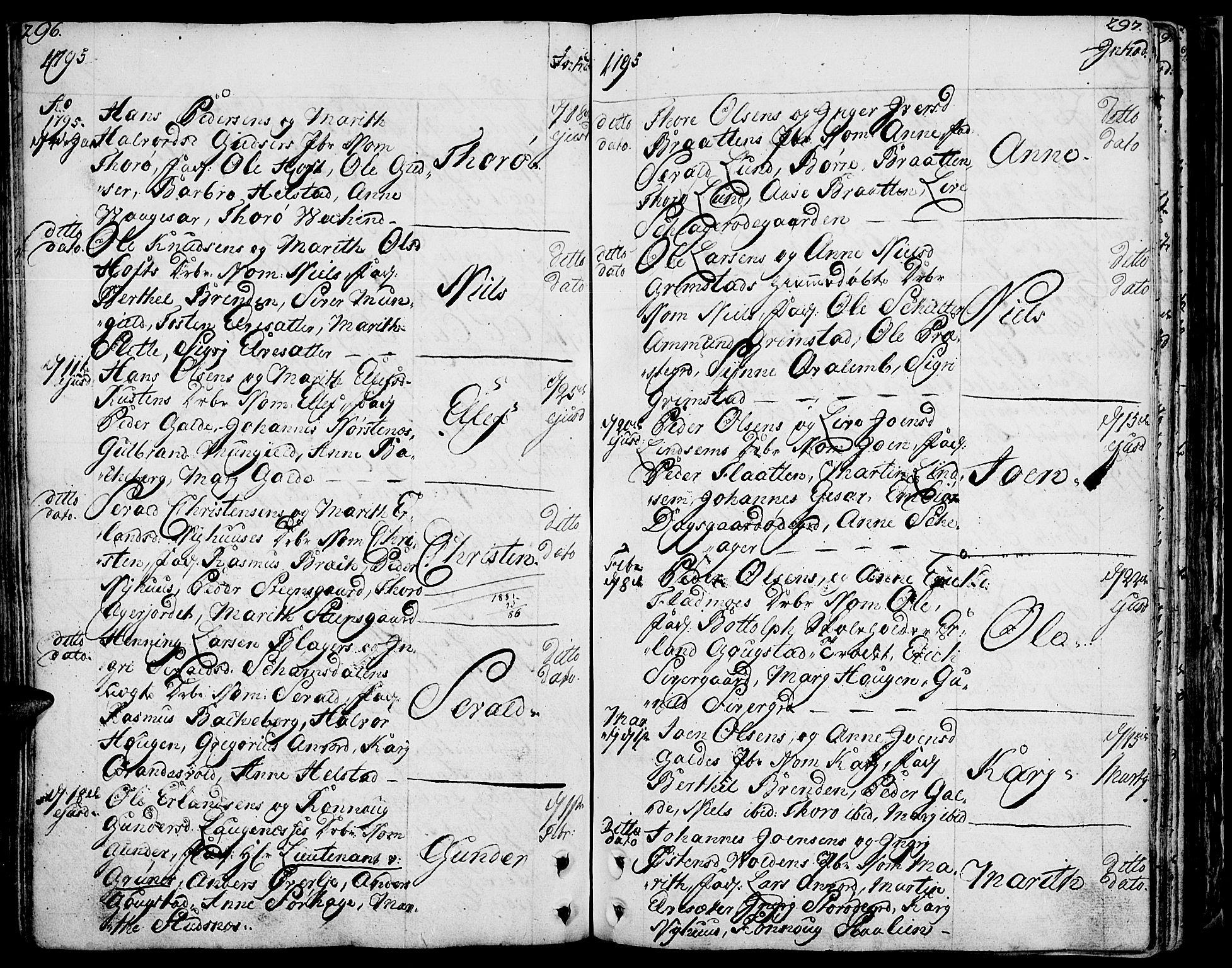 SAH, Lom prestekontor, K/L0002: Ministerialbok nr. 2, 1749-1801, s. 296-297