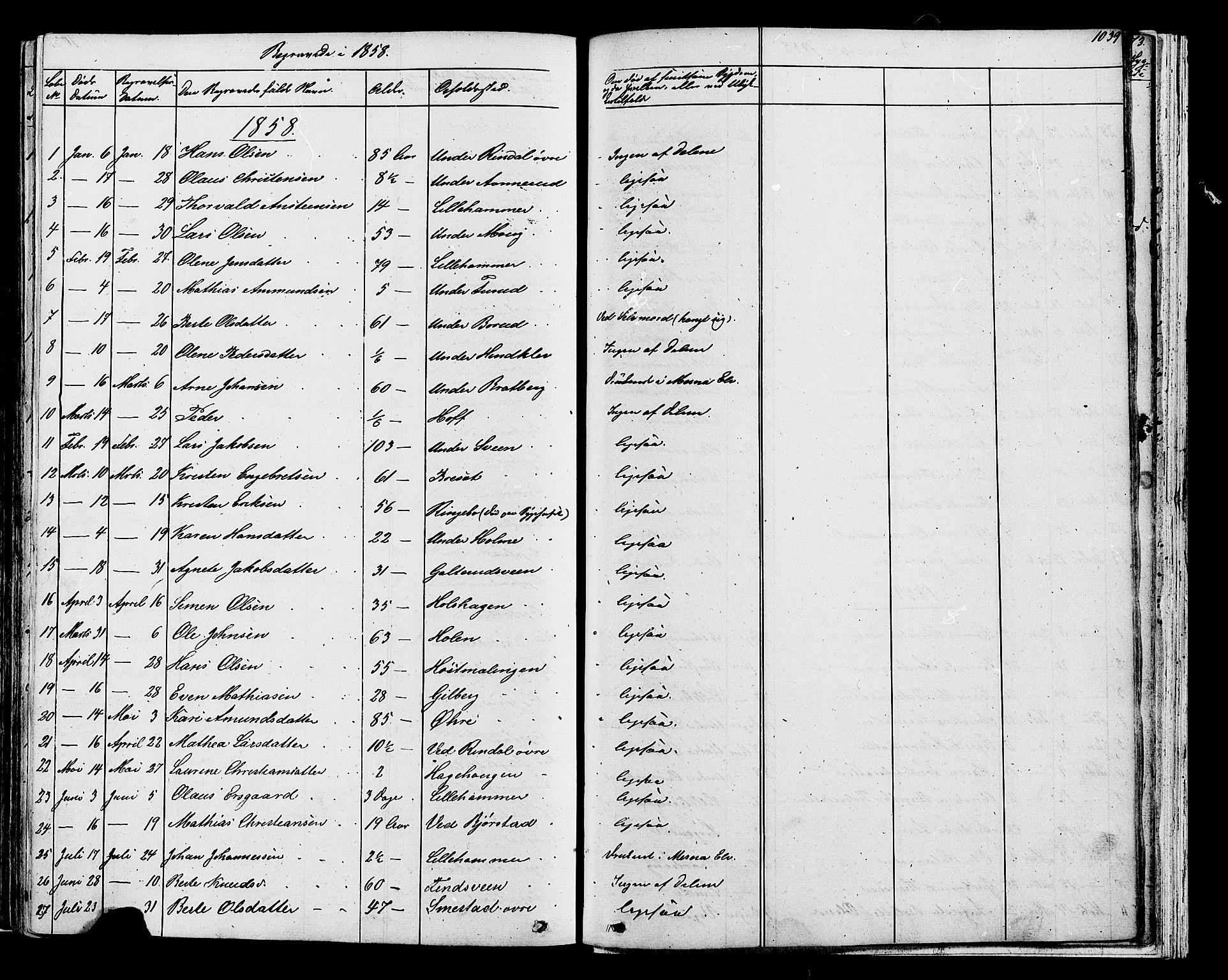 SAH, Fåberg prestekontor, Klokkerbok nr. 7, 1856-1891, s. 1038-1039