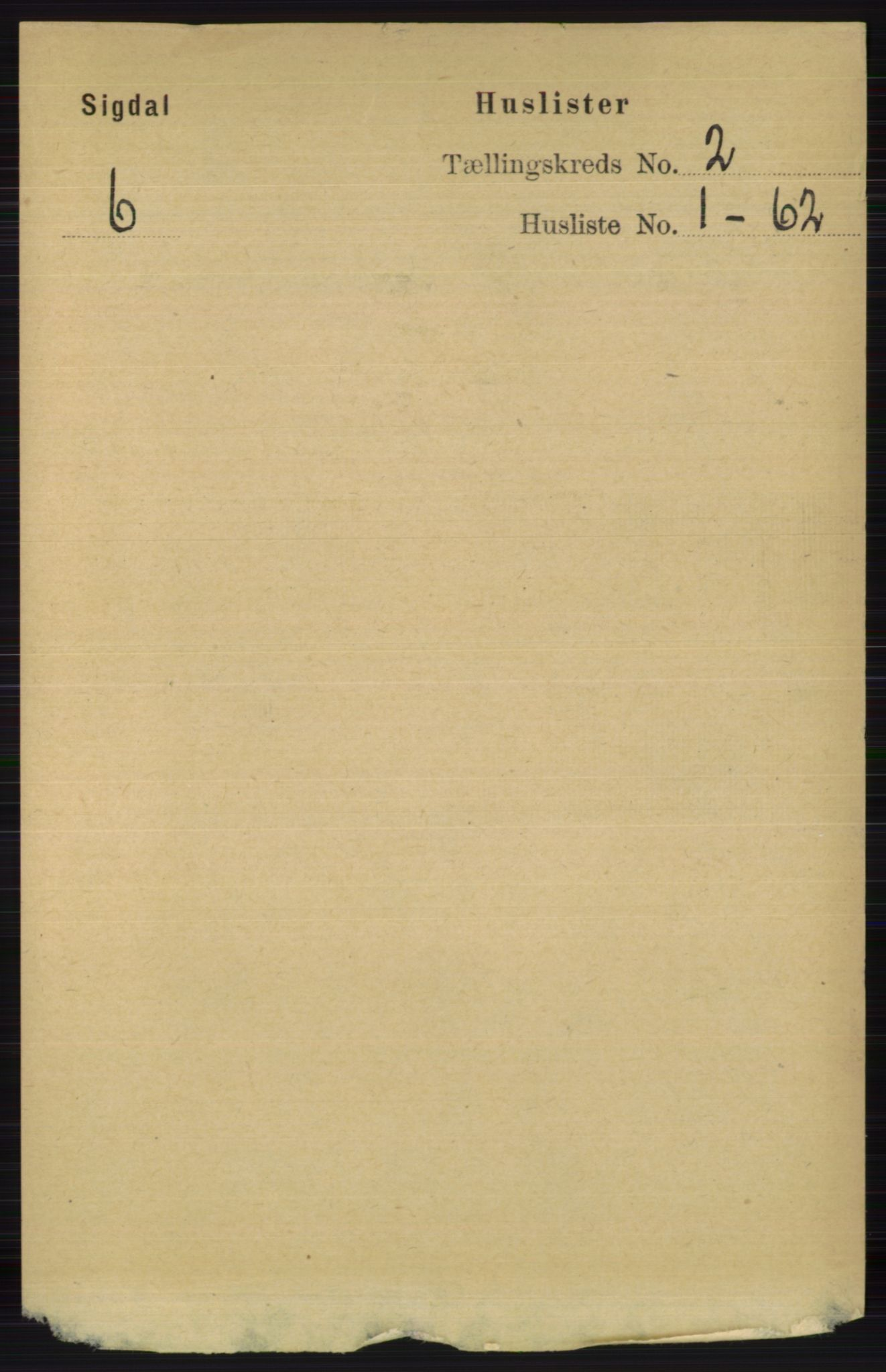 RA, Folketelling 1891 for 0621 Sigdal herred, 1891, s. 889