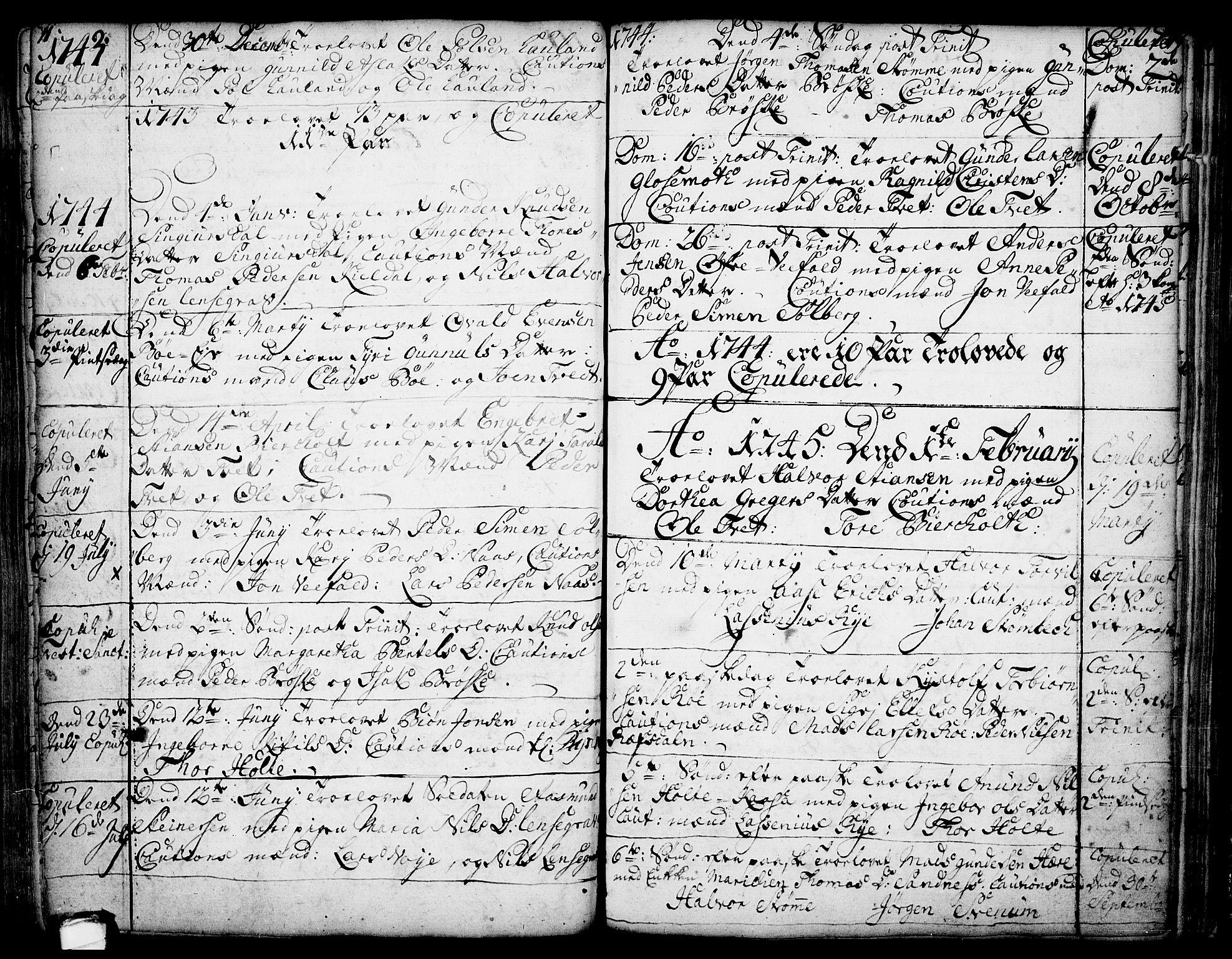 SAKO, Drangedal kirkebøker, F/Fa/L0002: Ministerialbok nr. 2, 1733-1753, s. 11-12