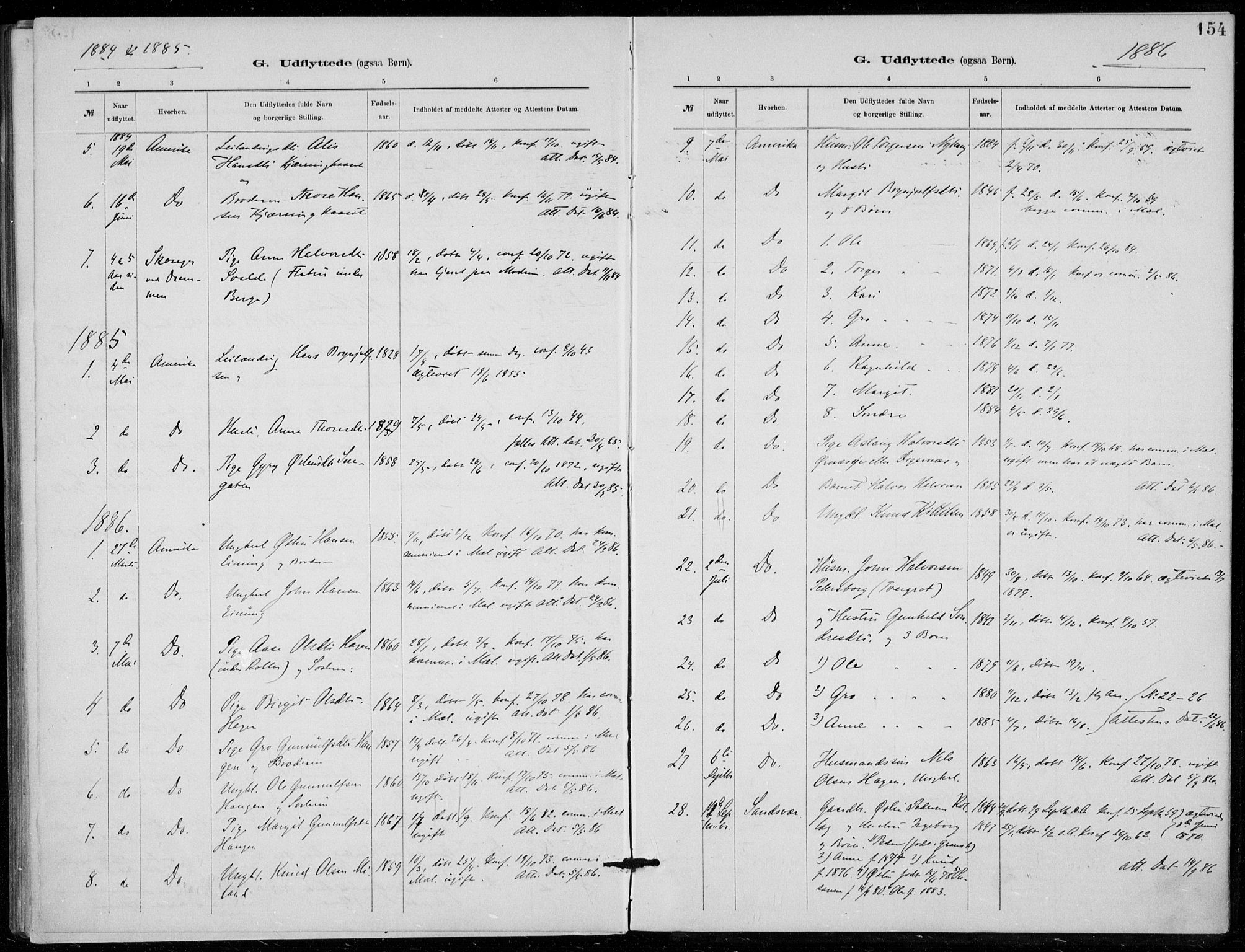 SAKO, Tinn kirkebøker, F/Fb/L0002: Ministerialbok nr. II 2, 1878-1917, s. 154