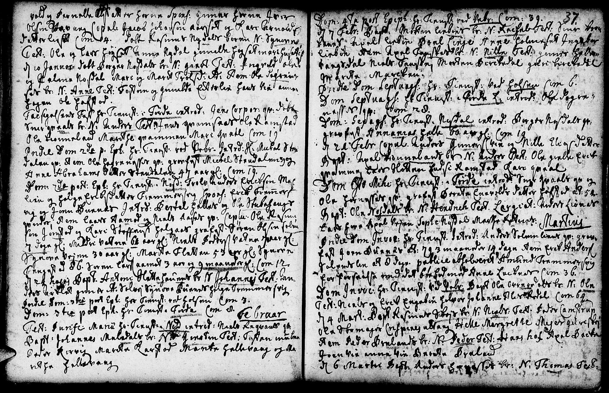 SAB, Førde sokneprestembete, H/Haa: Ministerialbok nr. A 2, 1728-1748, s. 37