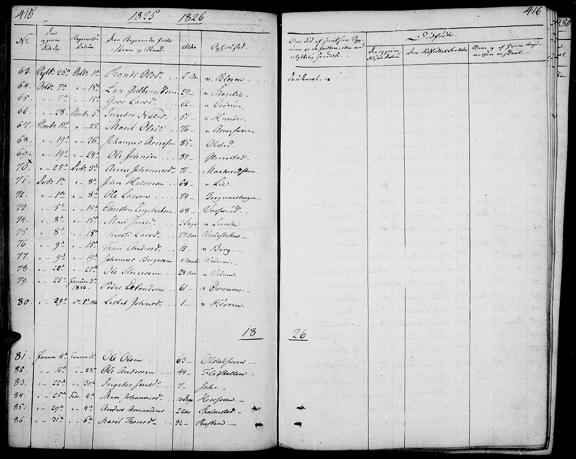 SAH, Øyer prestekontor, Ministerialbok nr. 4, 1824-1841, s. 415-416