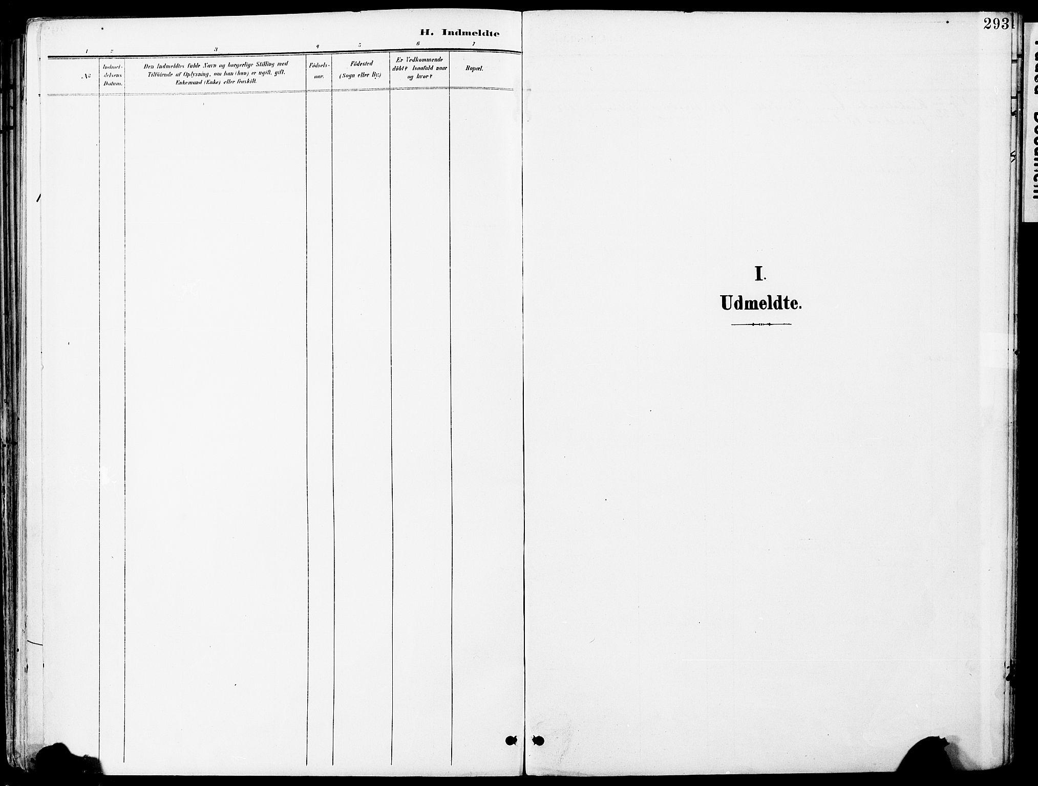 SAO, Vestby prestekontor Kirkebøker, F/Fa/L0010: Ministerialbok nr. I 10, 1900-1926, s. 293