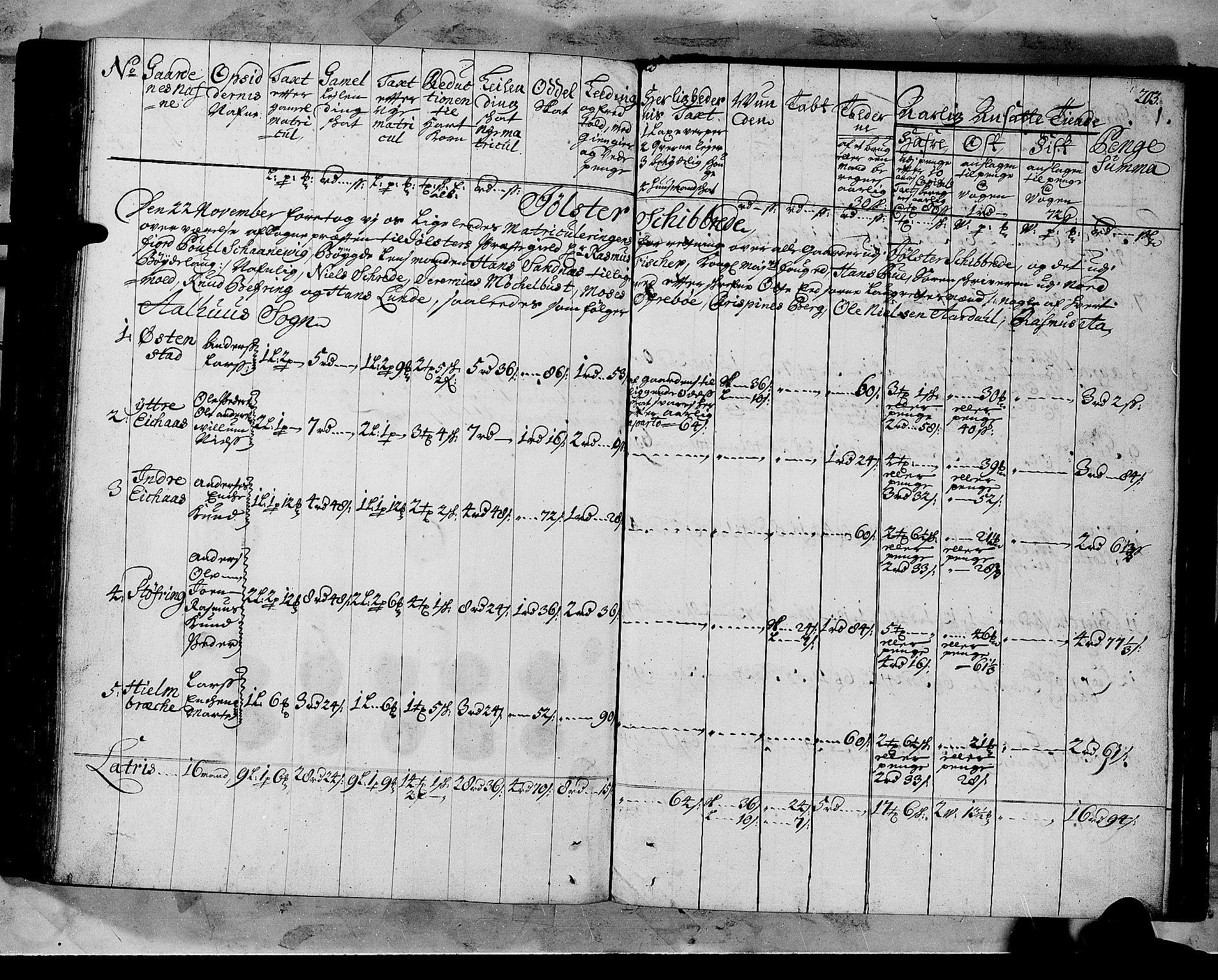 RA, Rentekammeret inntil 1814, Realistisk ordnet avdeling, N/Nb/Nbf/L0147: Sunnfjord og Nordfjord matrikkelprotokoll, 1723, s. 202b-203a