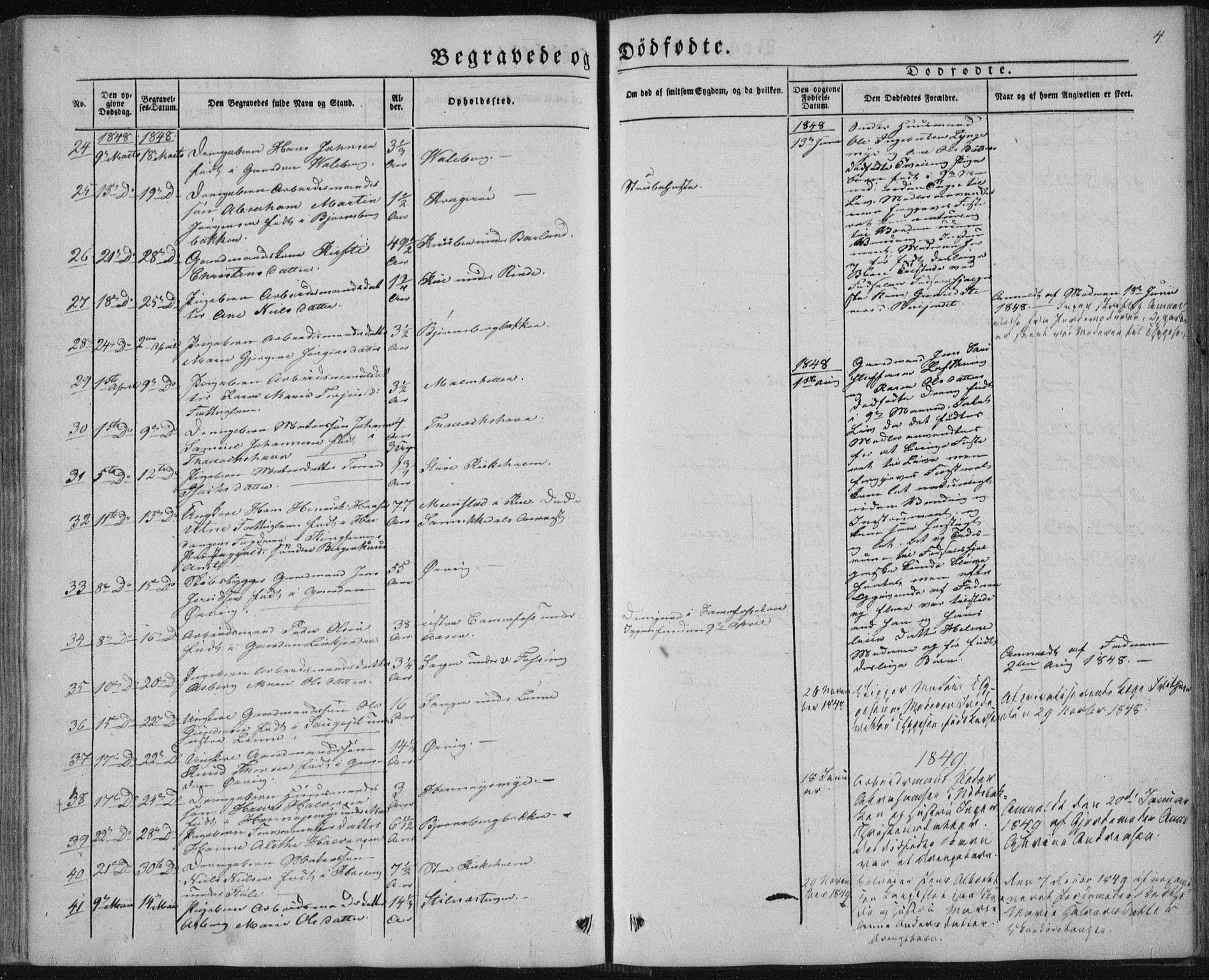SAKO, Sannidal kirkebøker, F/Fa/L0008: Ministerialbok nr. 8, 1847-1862, s. 4
