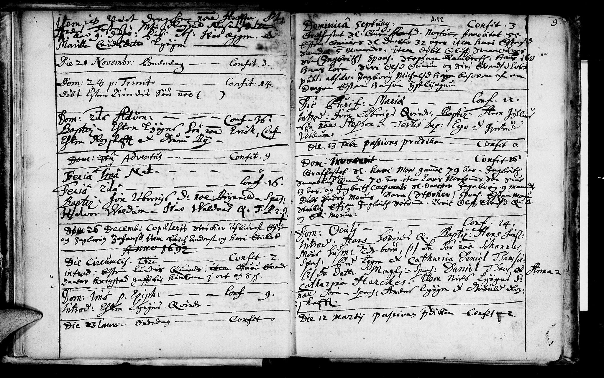 SAT, Ministerialprotokoller, klokkerbøker og fødselsregistre - Sør-Trøndelag, 692/L1101: Ministerialbok nr. 692A01, 1690-1746, s. 9