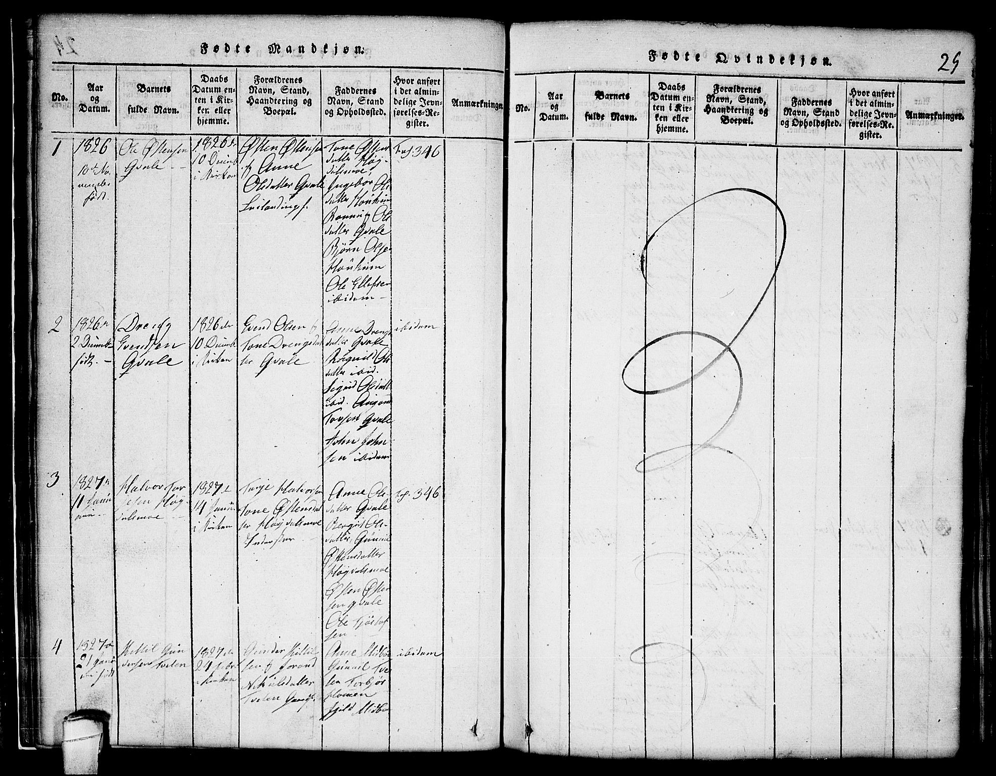 SAKO, Lårdal kirkebøker, G/Gc/L0001: Klokkerbok nr. III 1, 1815-1854, s. 25